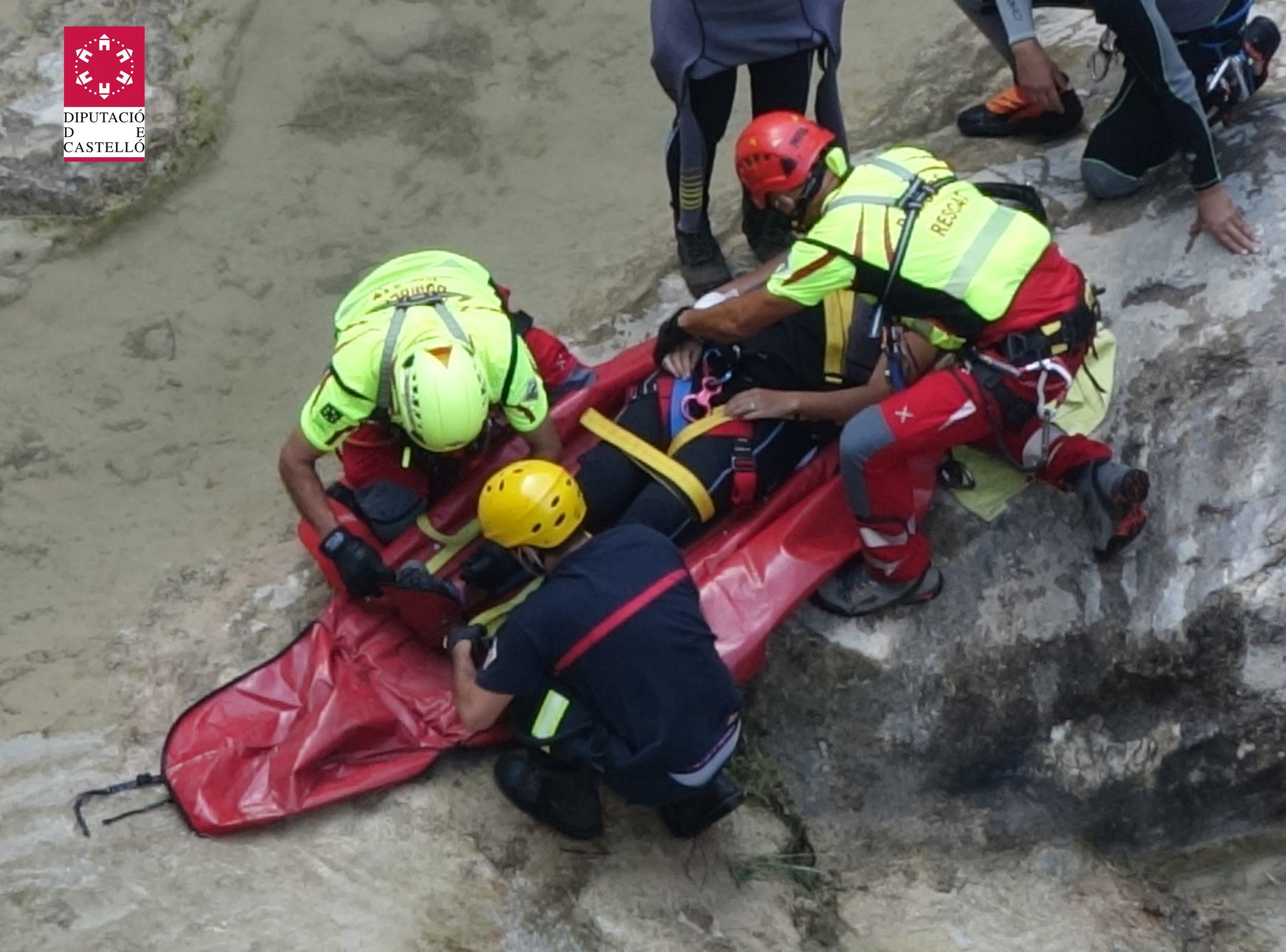Los bomberos de la Diputación efectúan 42 actuaciones de rescate en la montaña durante el verano, un 180% más que en 2019