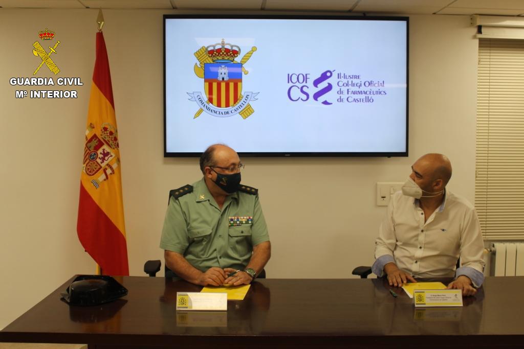La Guardia Civil colaborará con el Colegio de Farmacéuticos para impulsar la prevención y mejora de la seguridad de los mayores