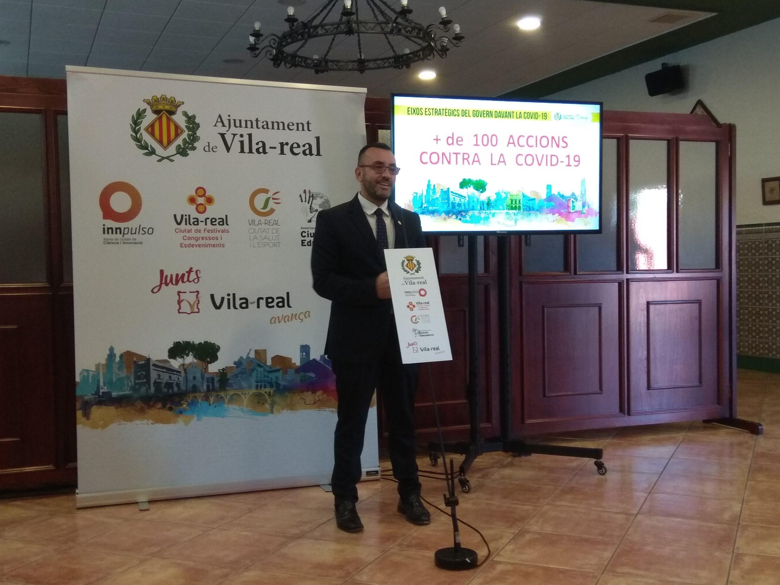 Escucha al completo la rueda de prensa del alcalde de Vila-real, José Benlloch