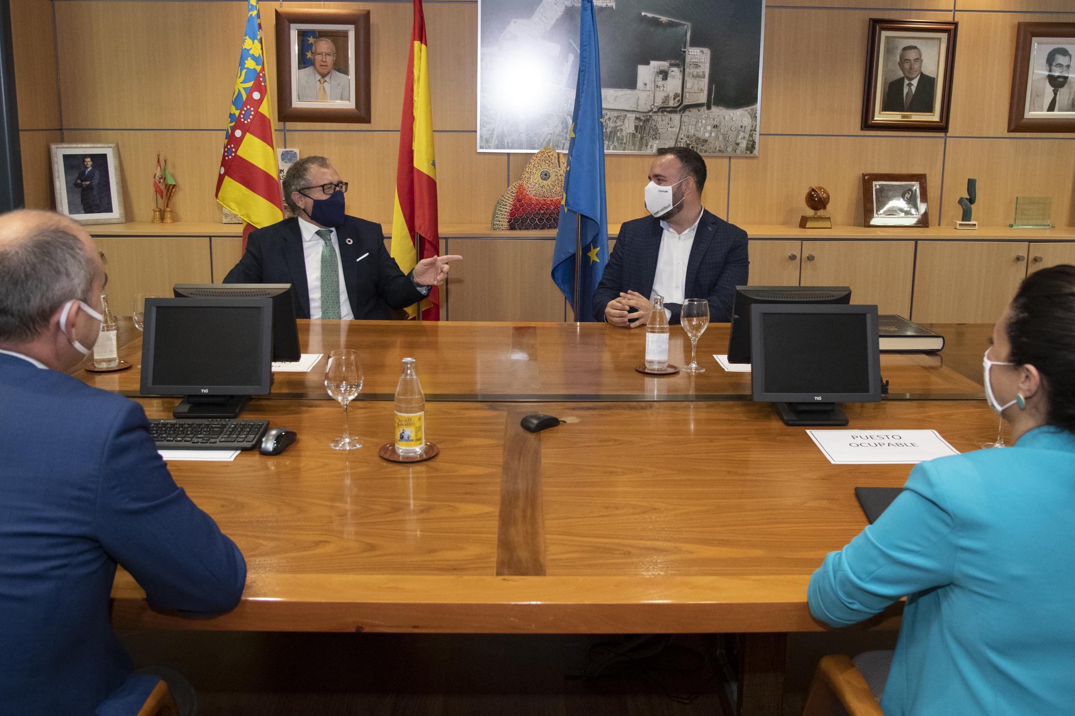 PortCastelló  y Diputación emprenderán líneas de acción conjuntas para potenciar los sectores productivos castellonenses