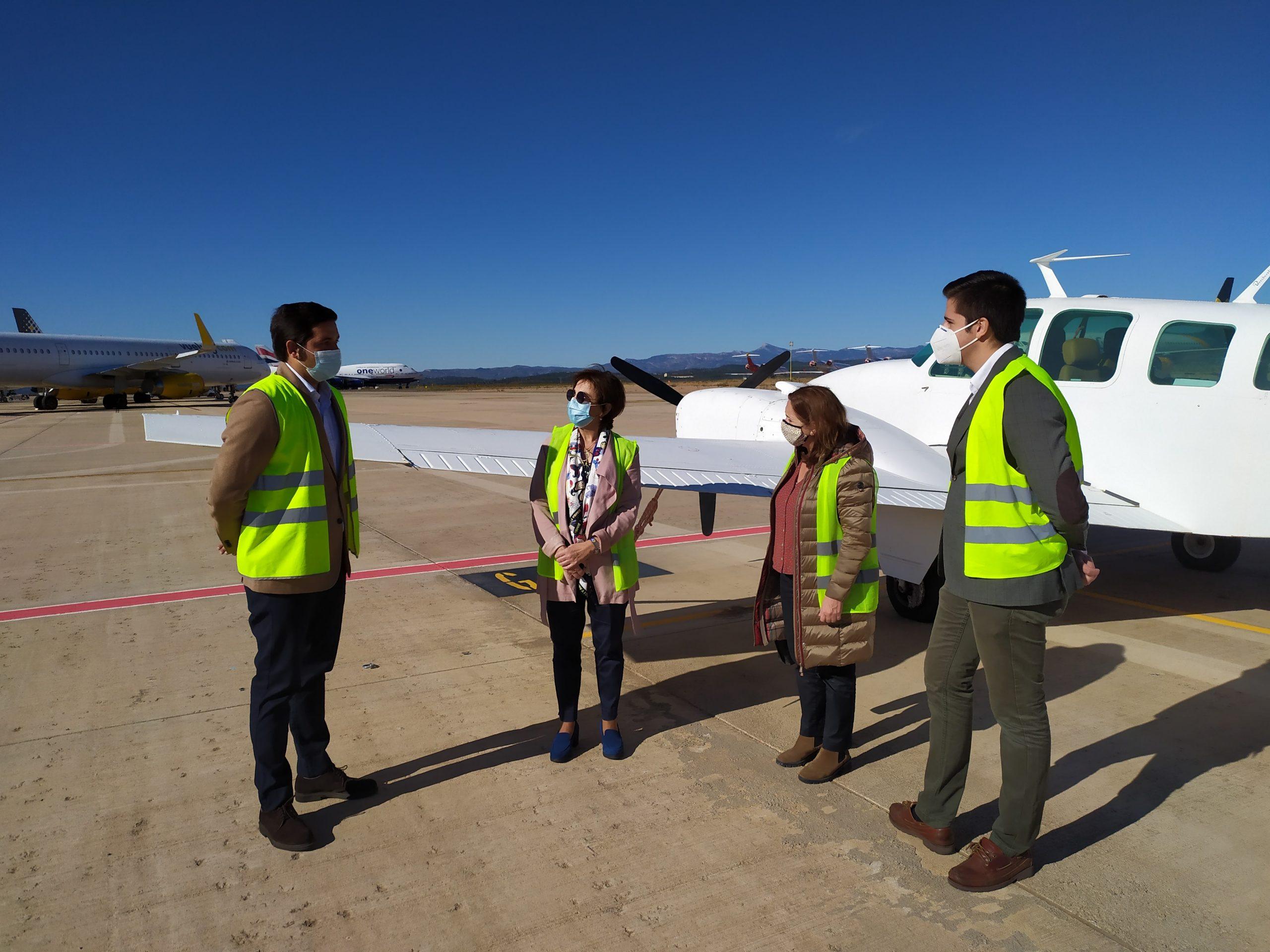 El aeropuerto de Castellón y PortCastelló establecen sinergias para impulsar el desarrollo del sector logístico