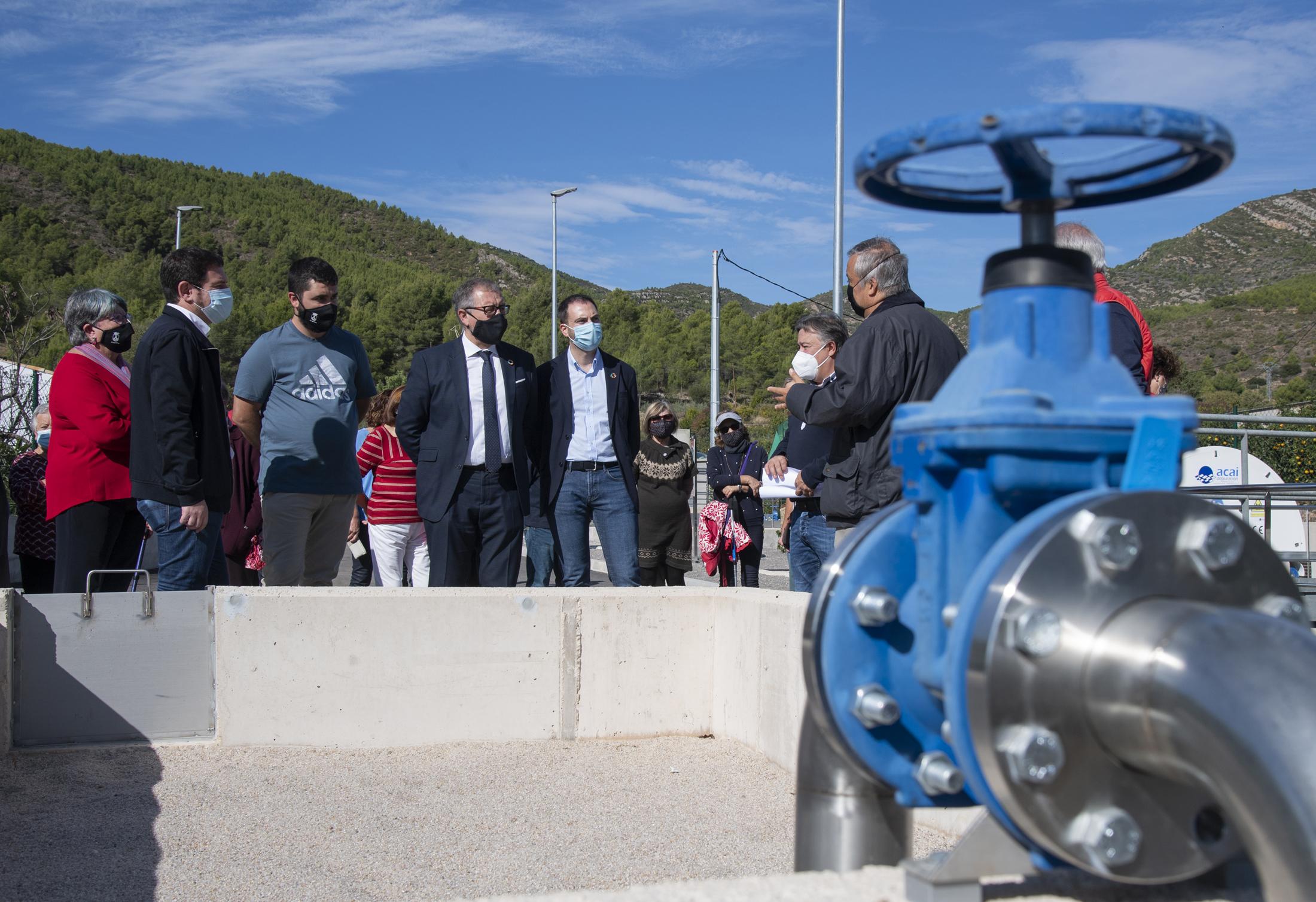 José Martí e Ignasi Garcia inauguran la nueva depuradora de Argelita que pone fin a 40 años de vertidos al río Villahermosa
