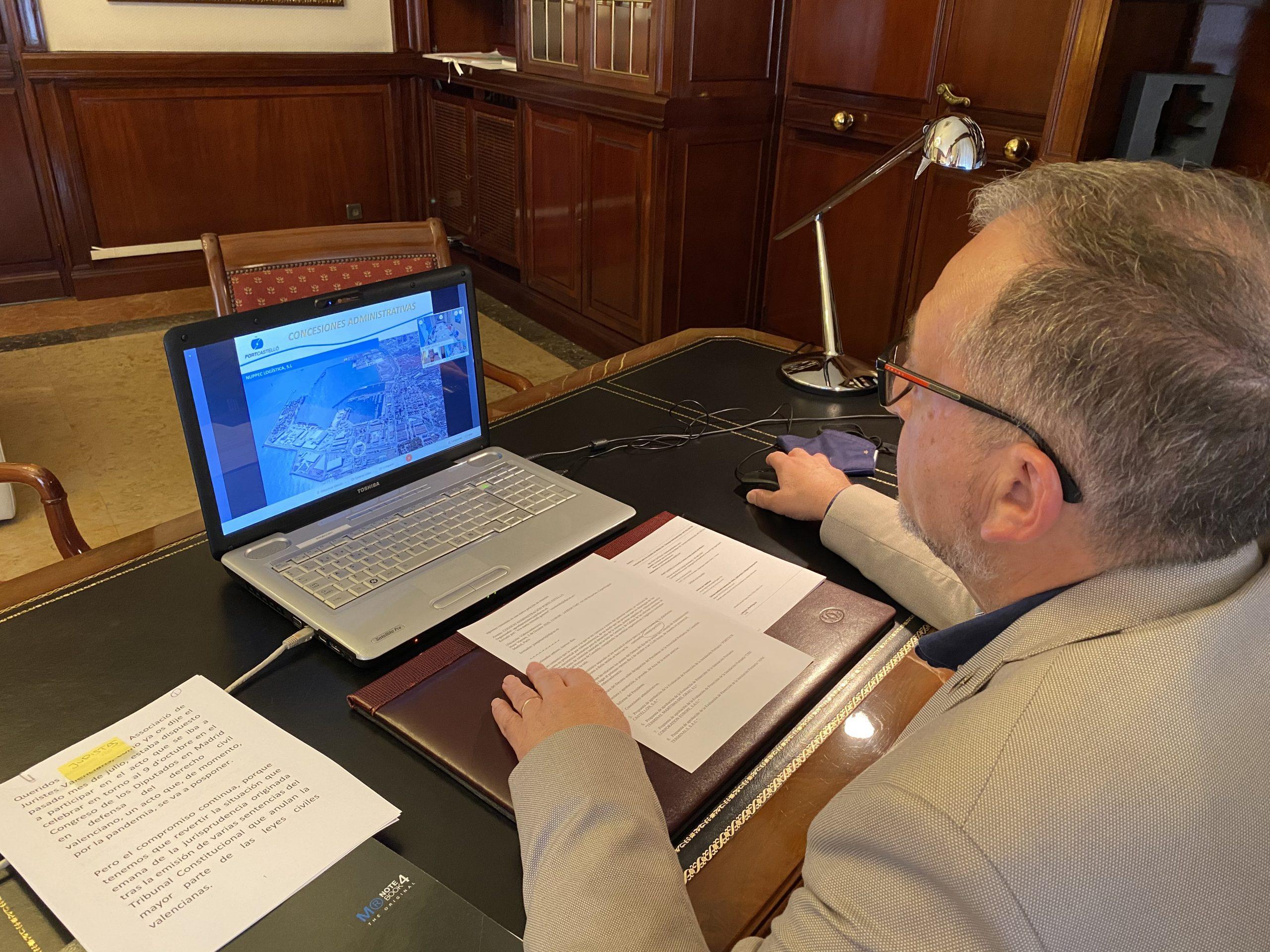 Martí asiste al Consejo de Administración de PortCastelló, invitado por el presidente de la Autoridad Portuaria, Rafa Simó