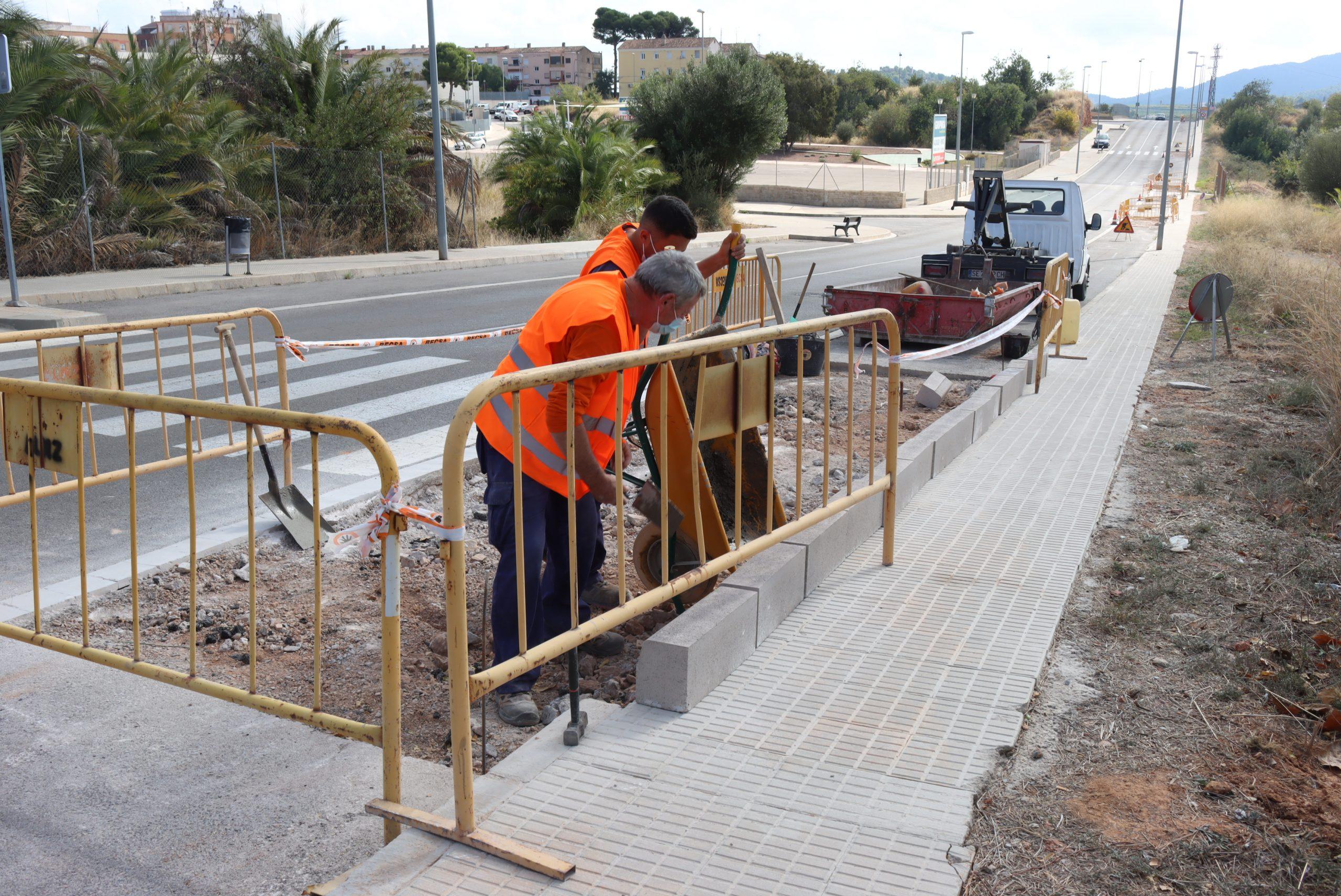 Onda inicia las obras de la red de carriles bici que unirá el apeadero de Betxí con la Serra Espadà
