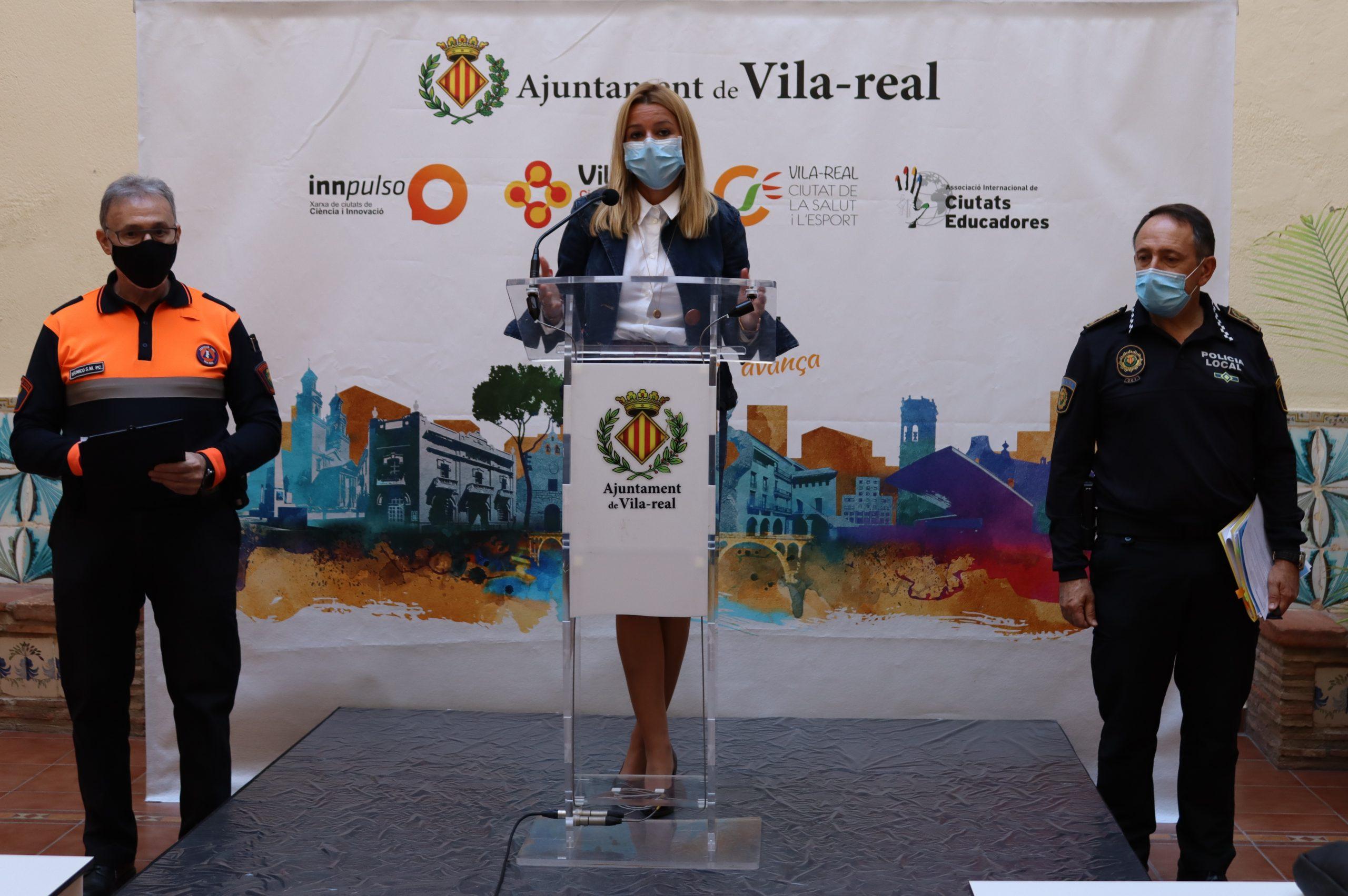 Vila-real encara la segunda ola de la pandemia con cerca de 800 denuncias desde marzo y 6.000 horas de trabajo de Protección Civil
