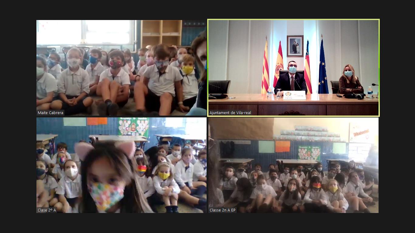 Benlloch anuncia la visita de los Reyes Magos a Vila-real en enero en una videoconferencia con alumnos de la Consolación