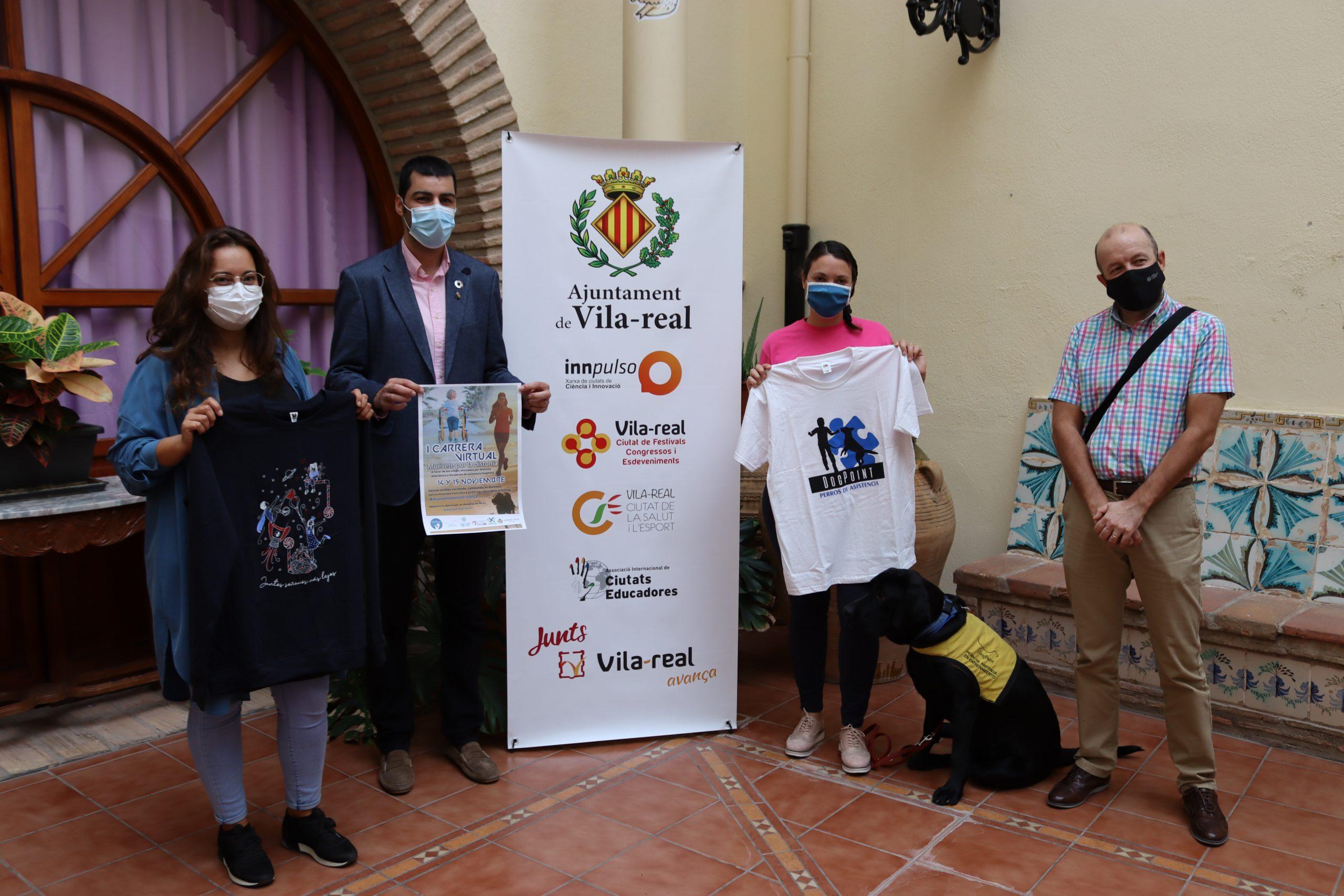 Vila-real se suma a Aludme y DogPoint en la primera carrera virtual solidaria 'Muévete por la distonía'