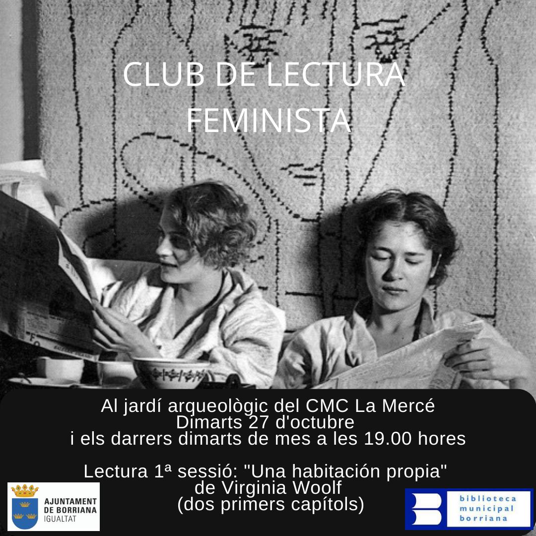El ayuntamiento de Burriana retoma el 'Club de lectura feminista' en el CMC la Mercé