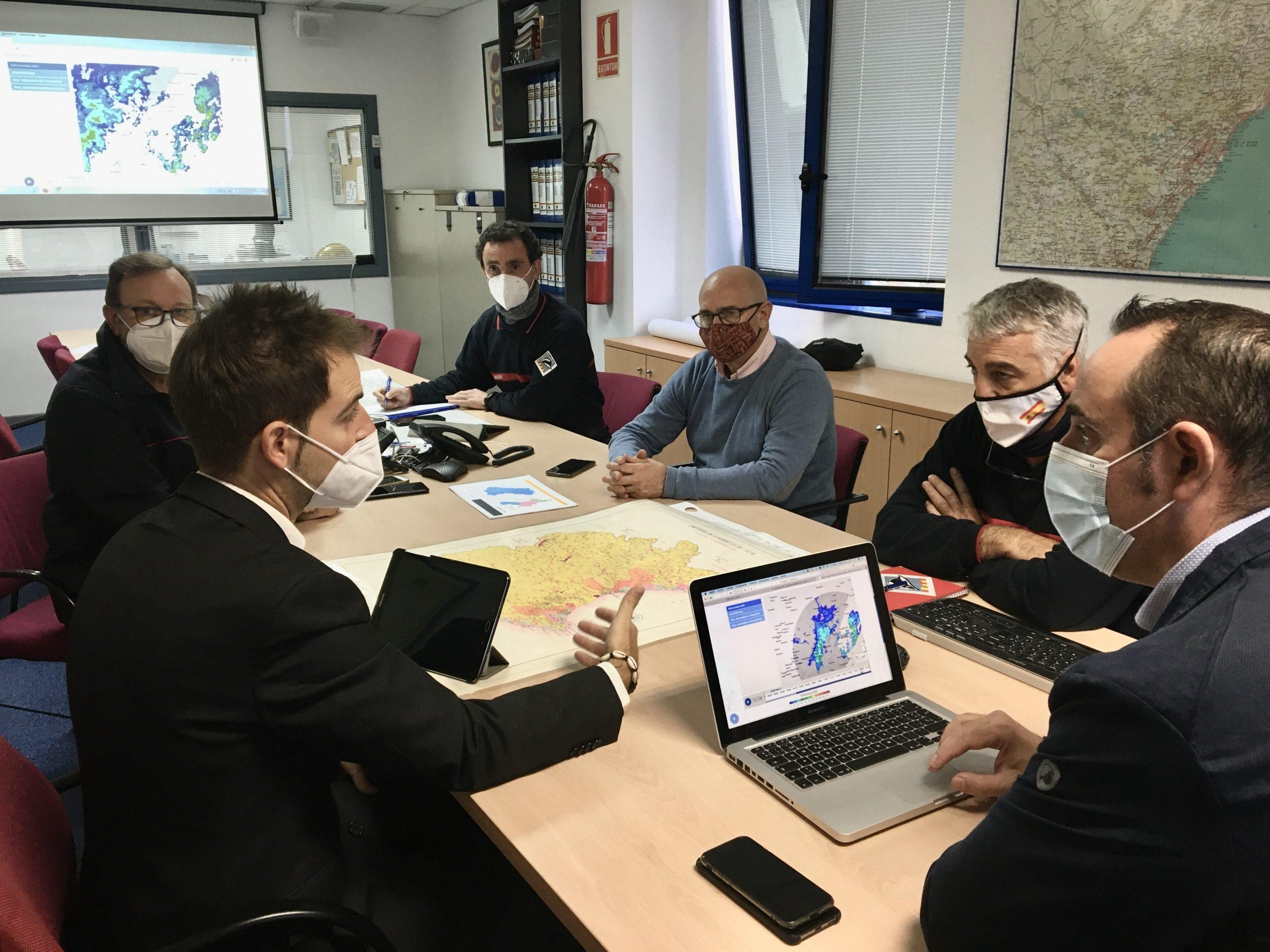 El Consorcio de Bomberos prepara su dispositivo ante la alerta naranja por fuertes lluvias decretada para la provincia de Castellón