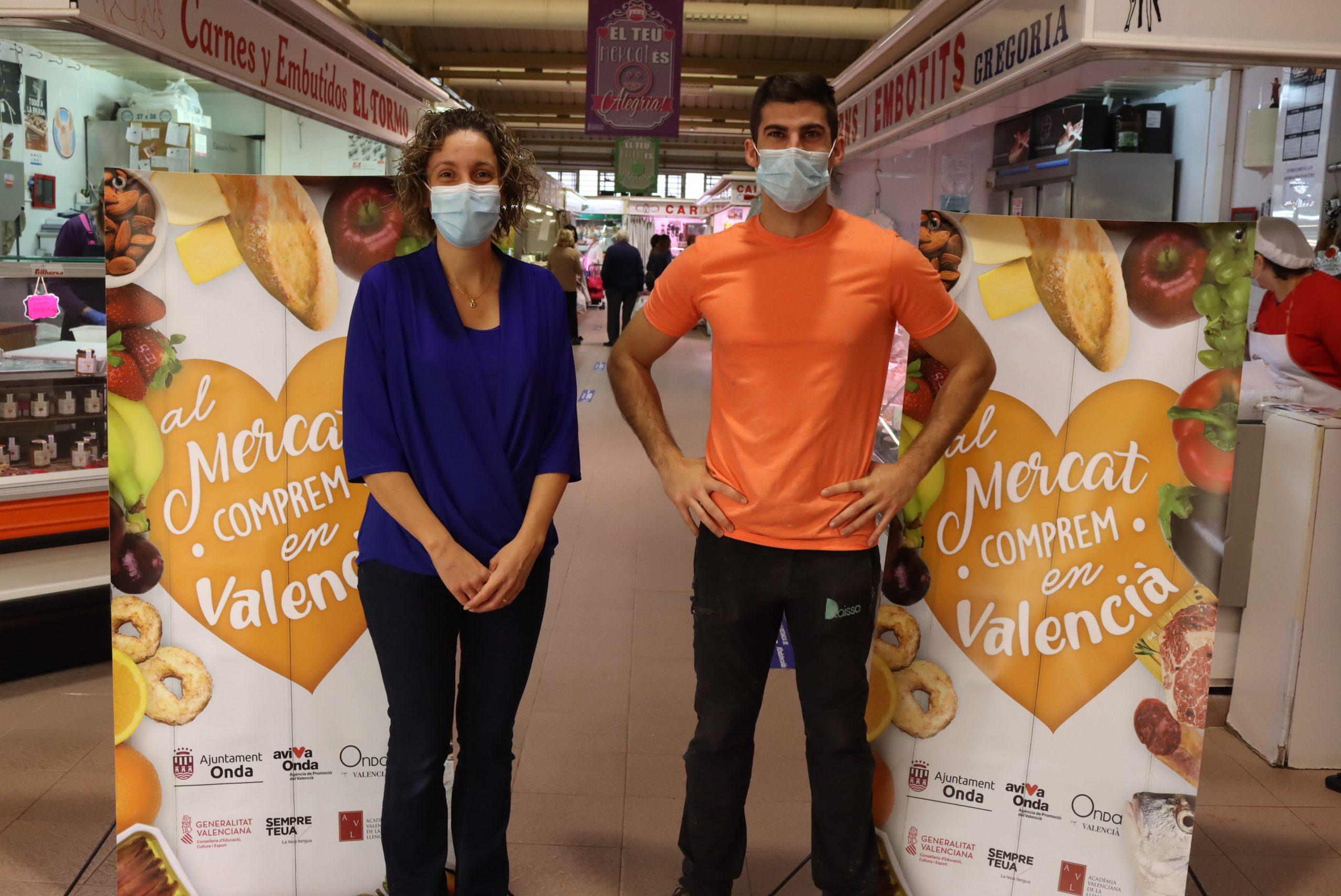 Onda reprén una campanya de promoció del valencià en el Mercat Municipal