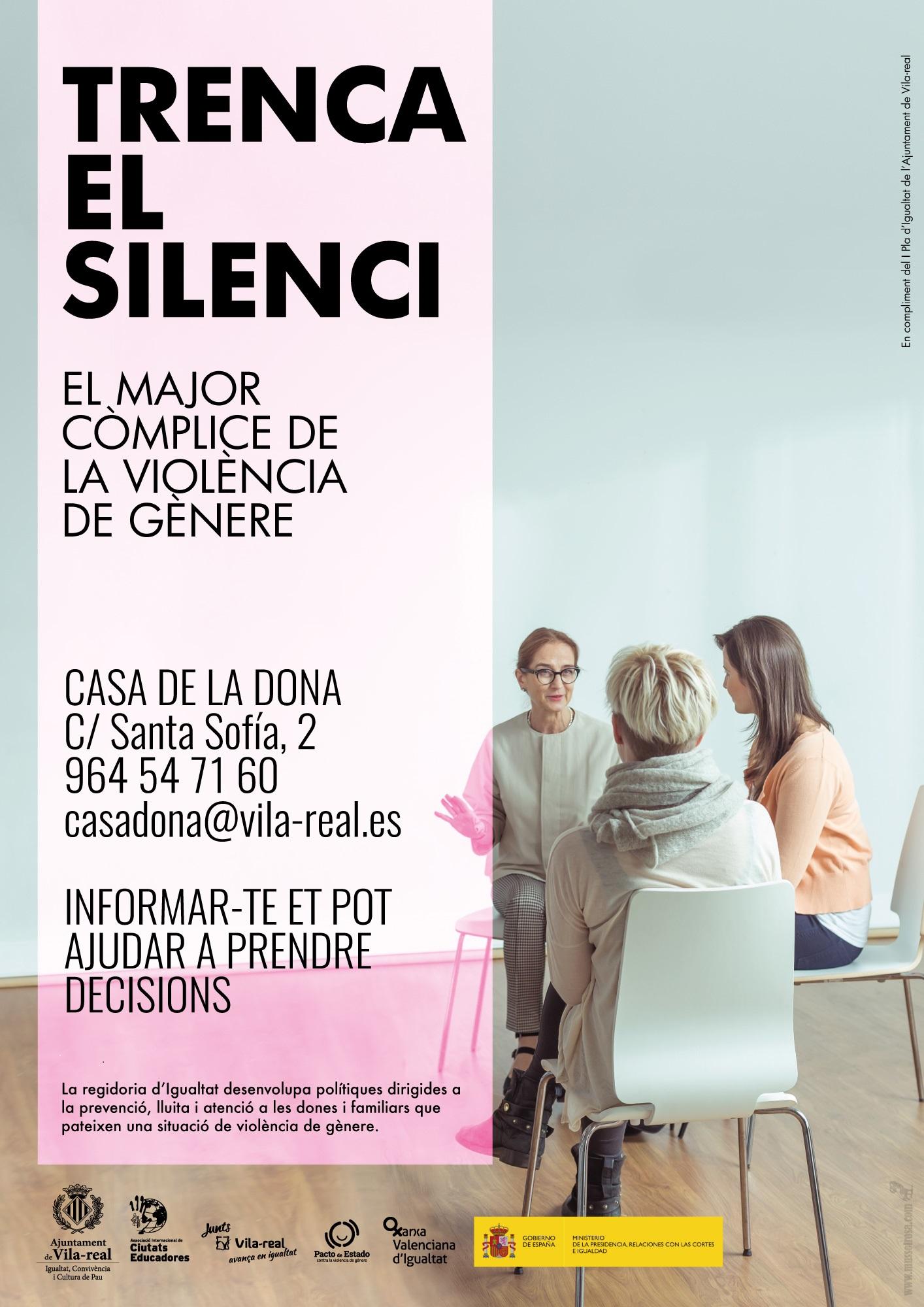Igualdad anima a romper el silencio ante la violencia de género en Vila-real con una campaña de concienciación con motivo del 25-N