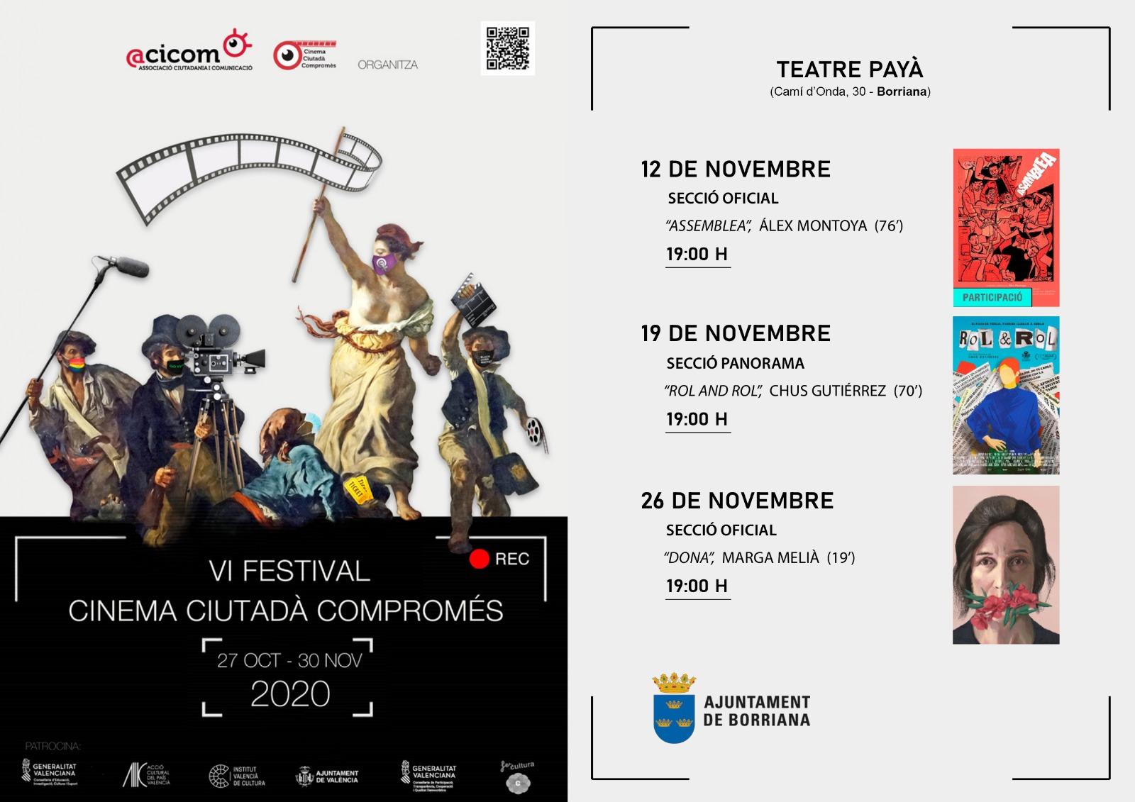 Burriana programa un ciclo de cine en valenciano con cuatro proyecciones