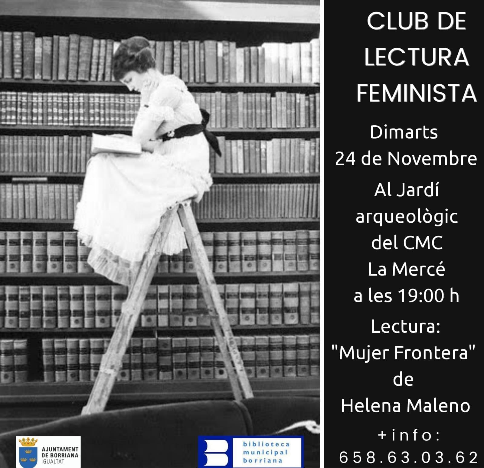 Lectura de Mujer Frontera de Helena Maleno en el 'Club de lectura feminista' en el CMC la Mercé de Borriana