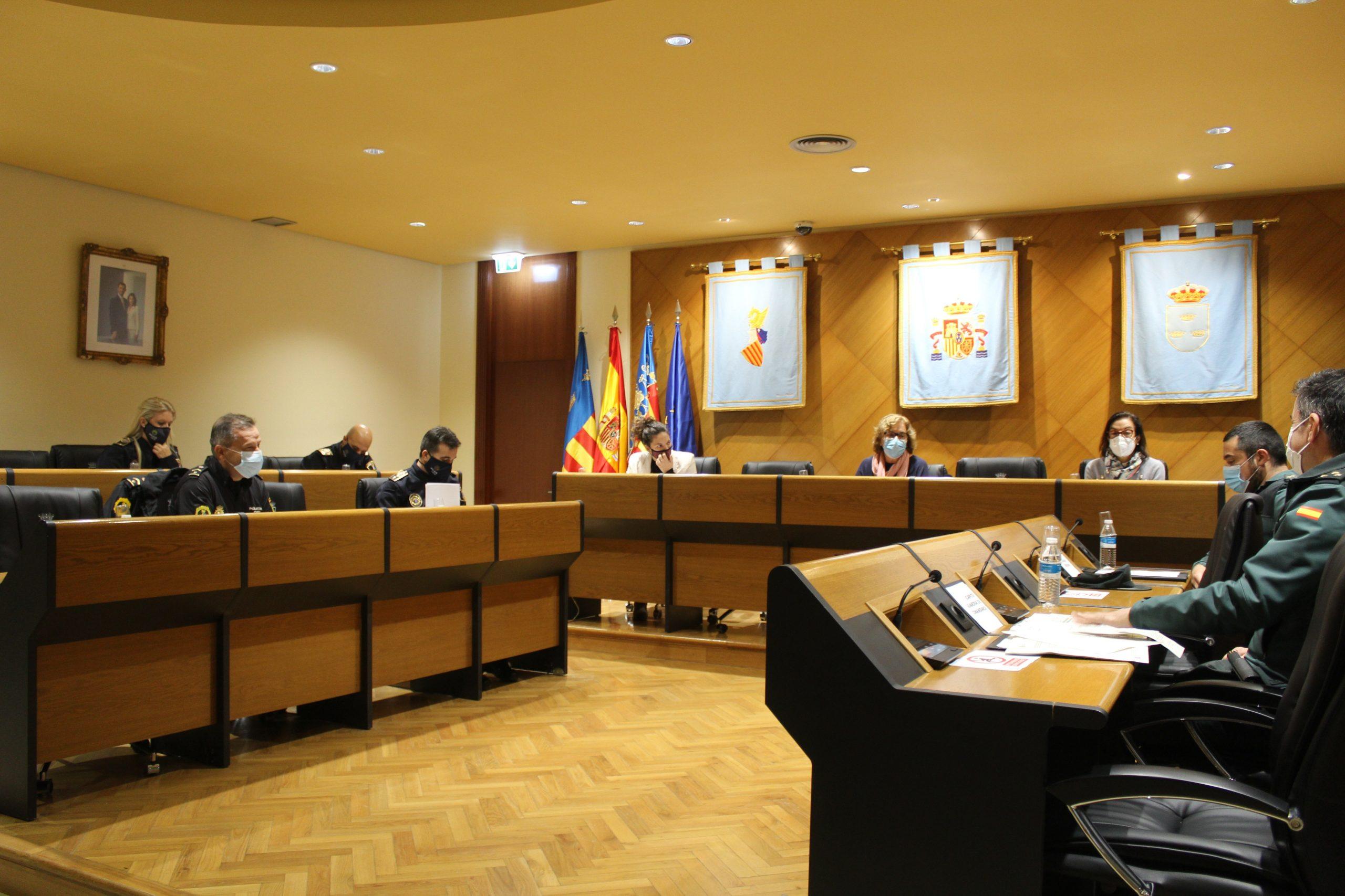 La Junta de Seguridad de Burriana repasa las actuaciones en materia de seguridad de este año