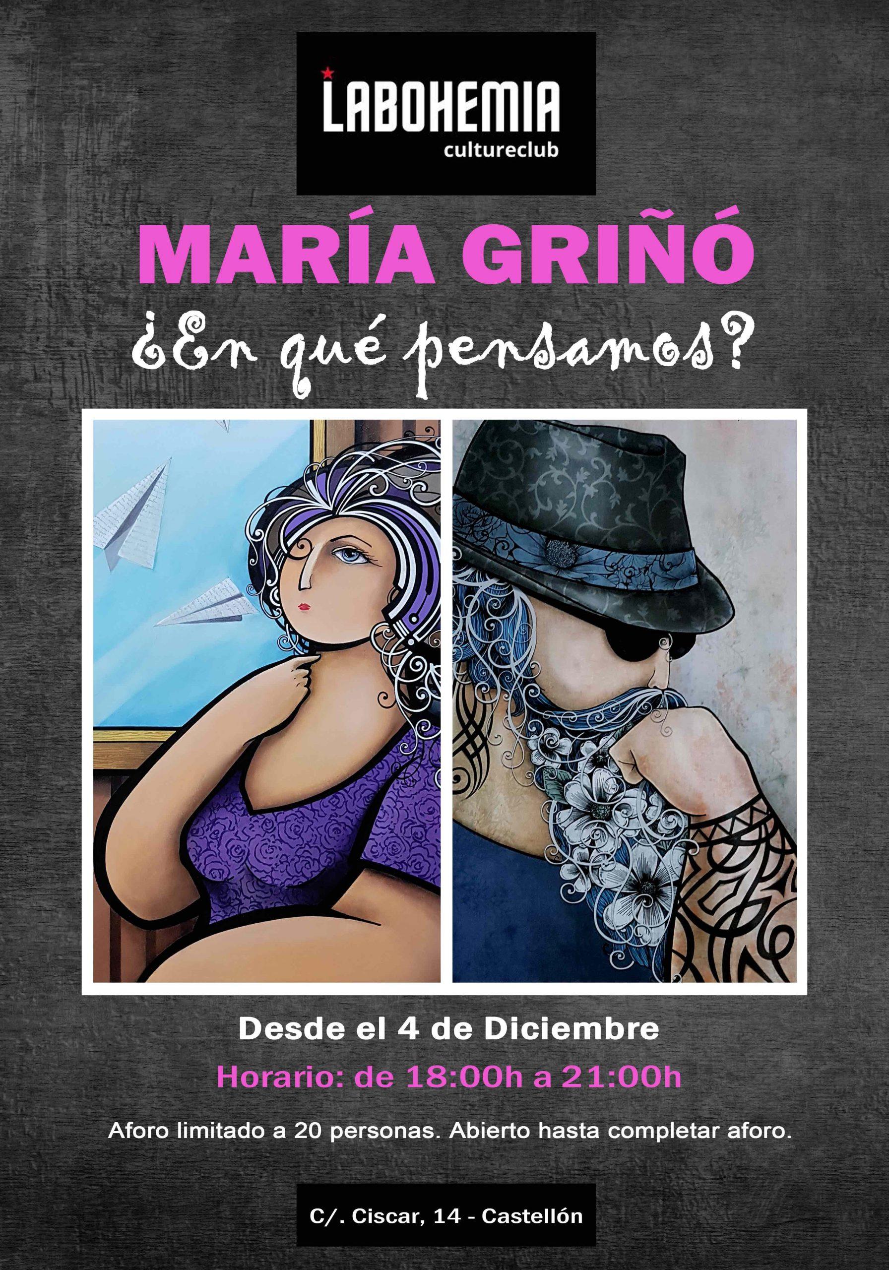 La Bohemia de Castellón acoge la exposición de María Griñó, artista que convierte el 2020 en un calendario pictórico