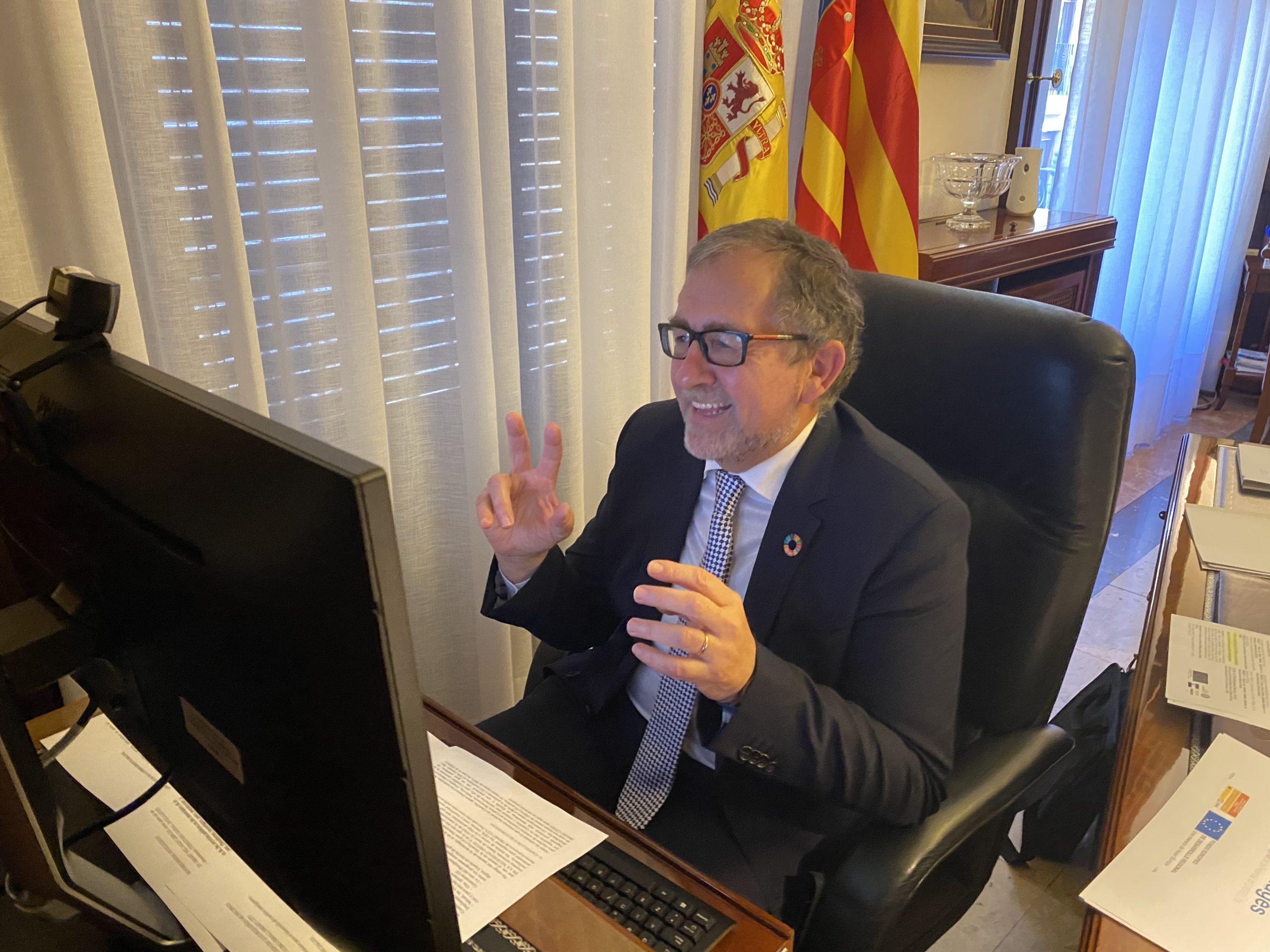 Martí reivindica el protagonismo de las diputaciones en la superación de la brecha digital rural