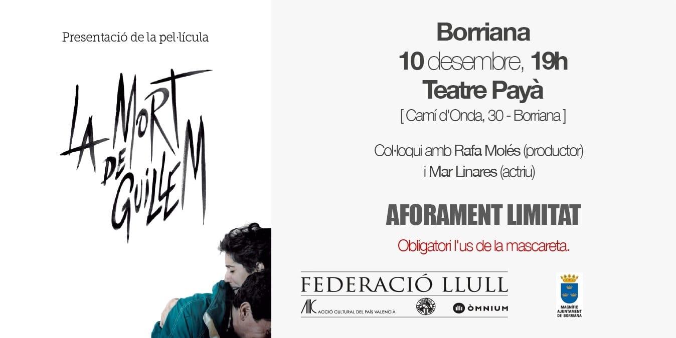 La película 'La mort de Guillem' se presenta en el Teatro Payà
