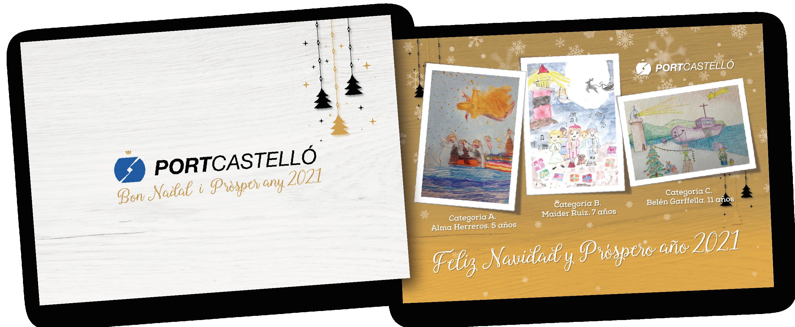 Un centenar de escolares participan en el concurso de postales navideñas de PortCastelló