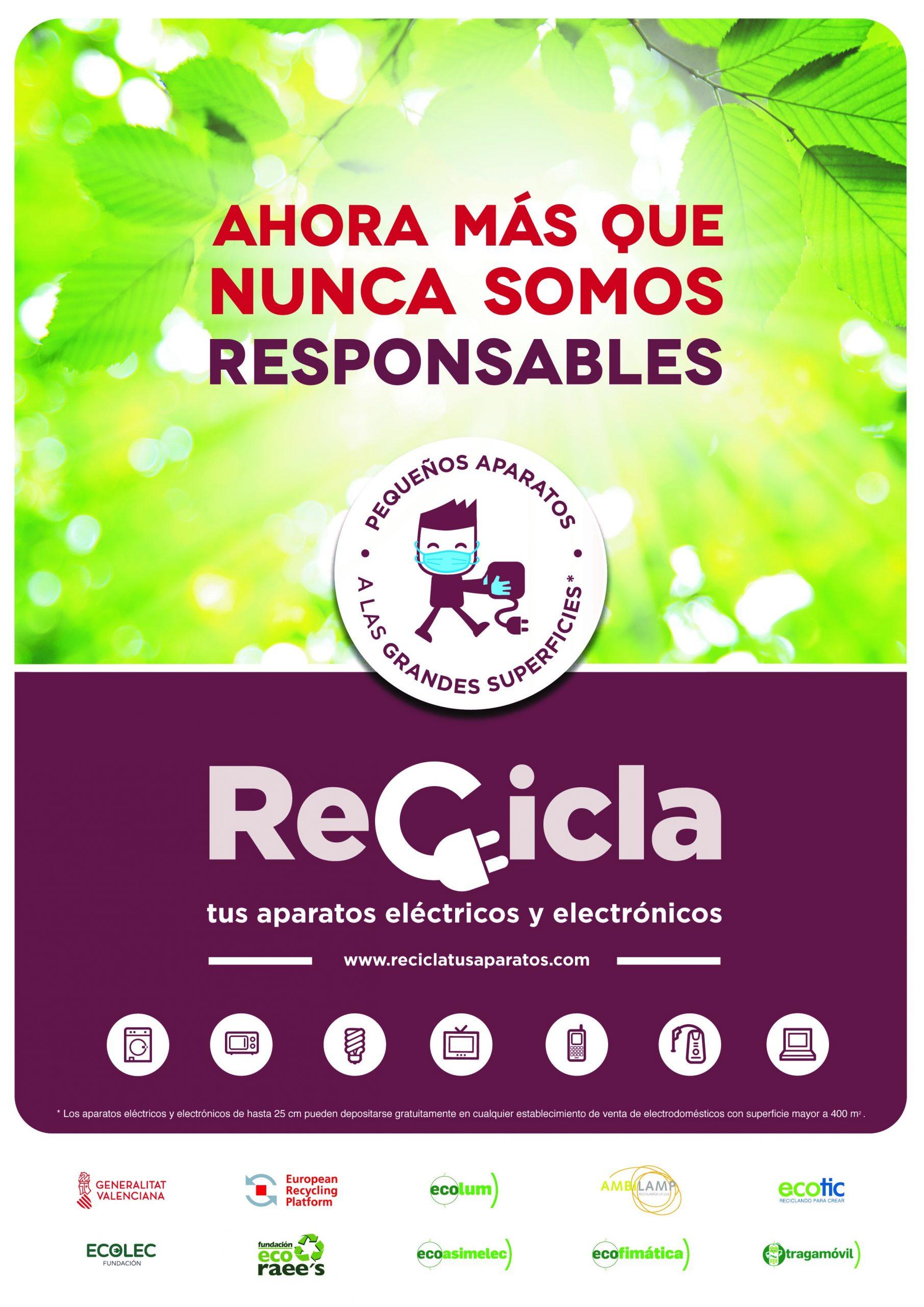 """La campaña """"Recicla tus aparatos"""" lleva a Vila-real un punto limpio móvil para reciclar RAEE´s"""