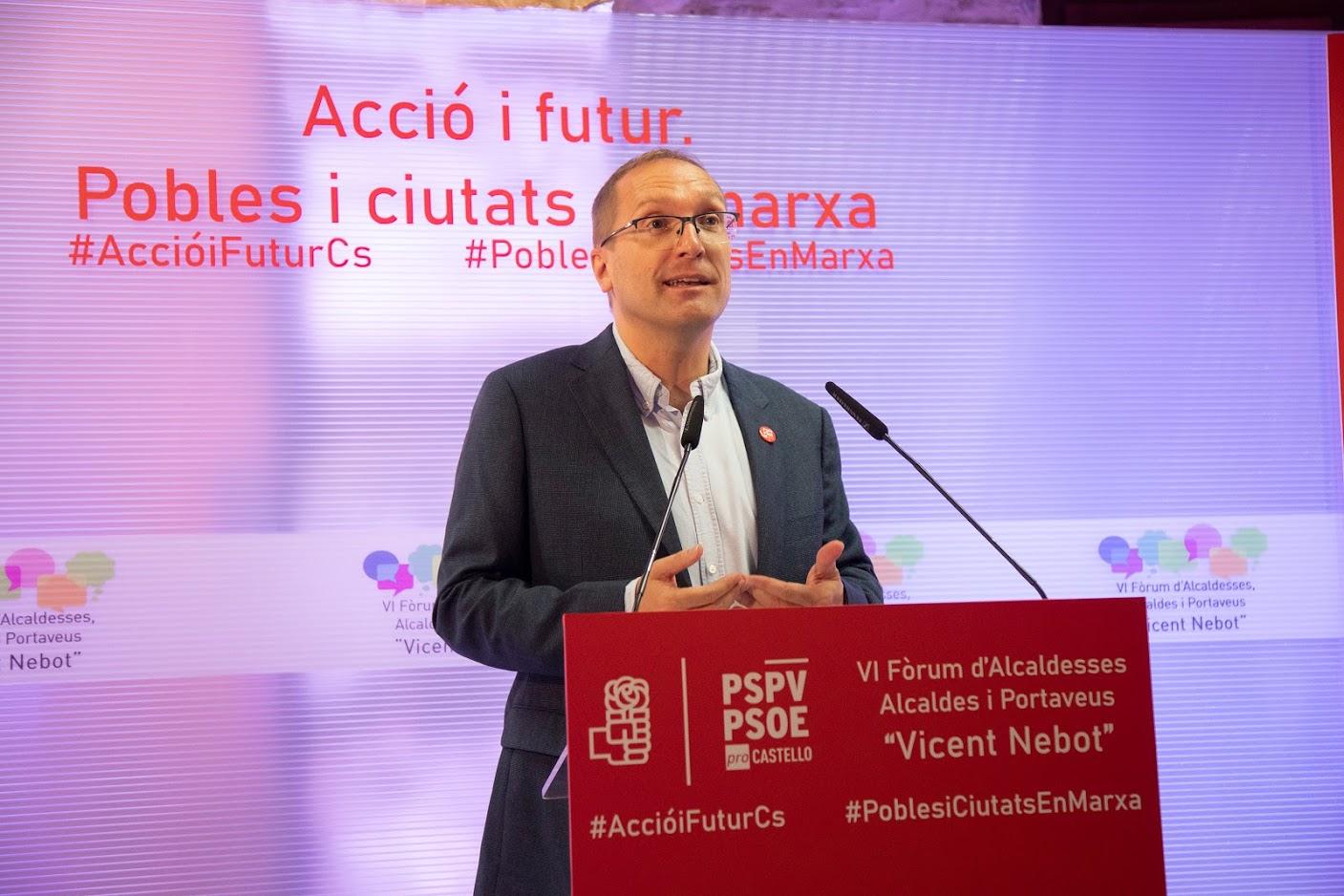"""Blanch (PSPV-PSOE) afirma que la entrada en vigor de los nuevos presupuestos """"supone el fin de los recortes y el impulso de las cuentas más sociales de la historia"""""""