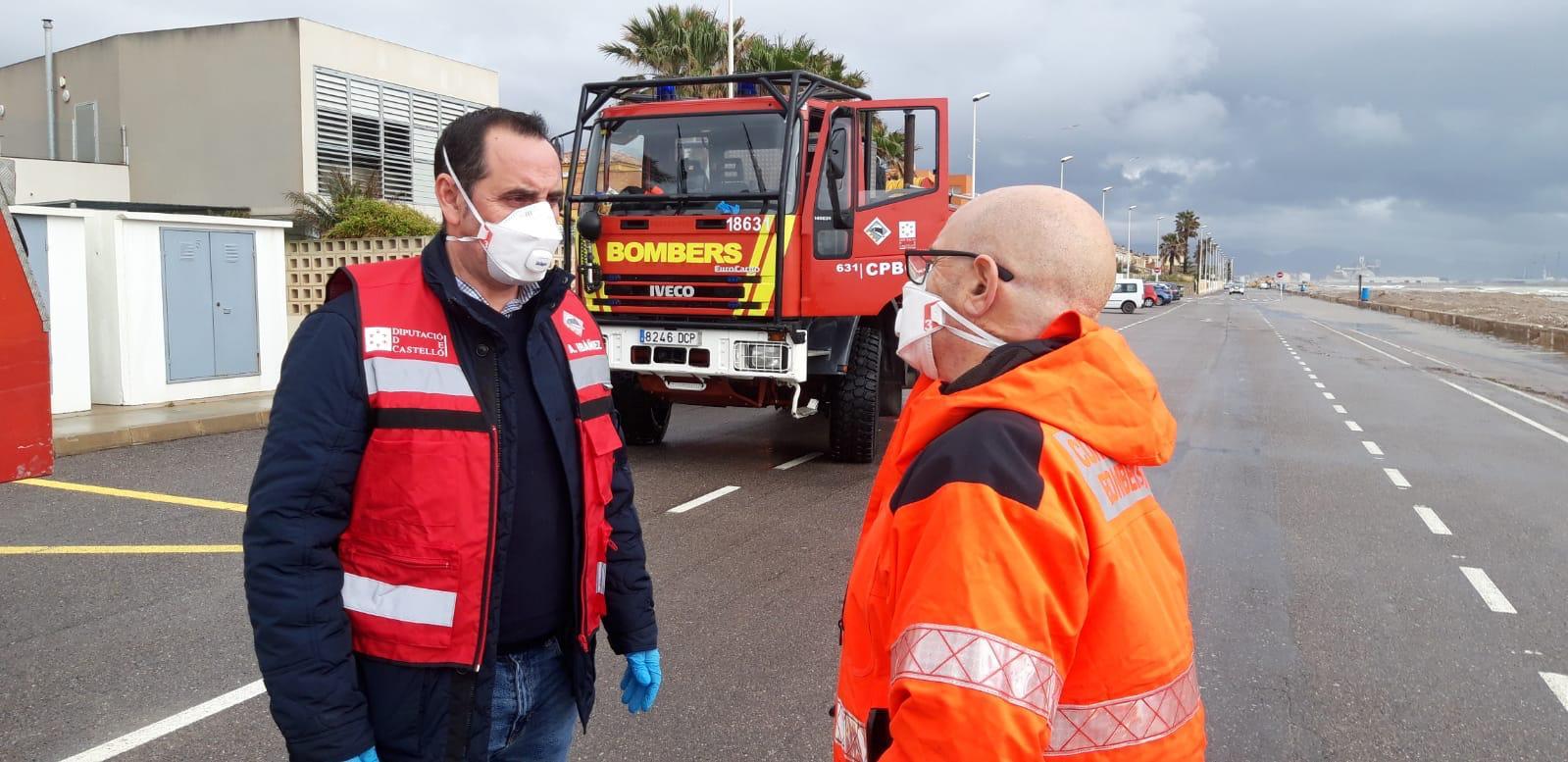 La Diputación de Castellón pide a la población que  extreme la precaucione ante las rachas de viento de 100 Km/h que ocasionará la borrasca Hortense