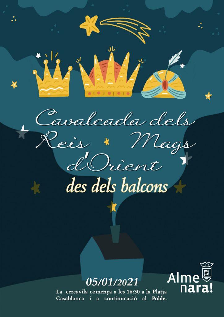 La cabalgata de los Reyes Magos desde los balcones de Almenara recorrerá cerca de 70 calles