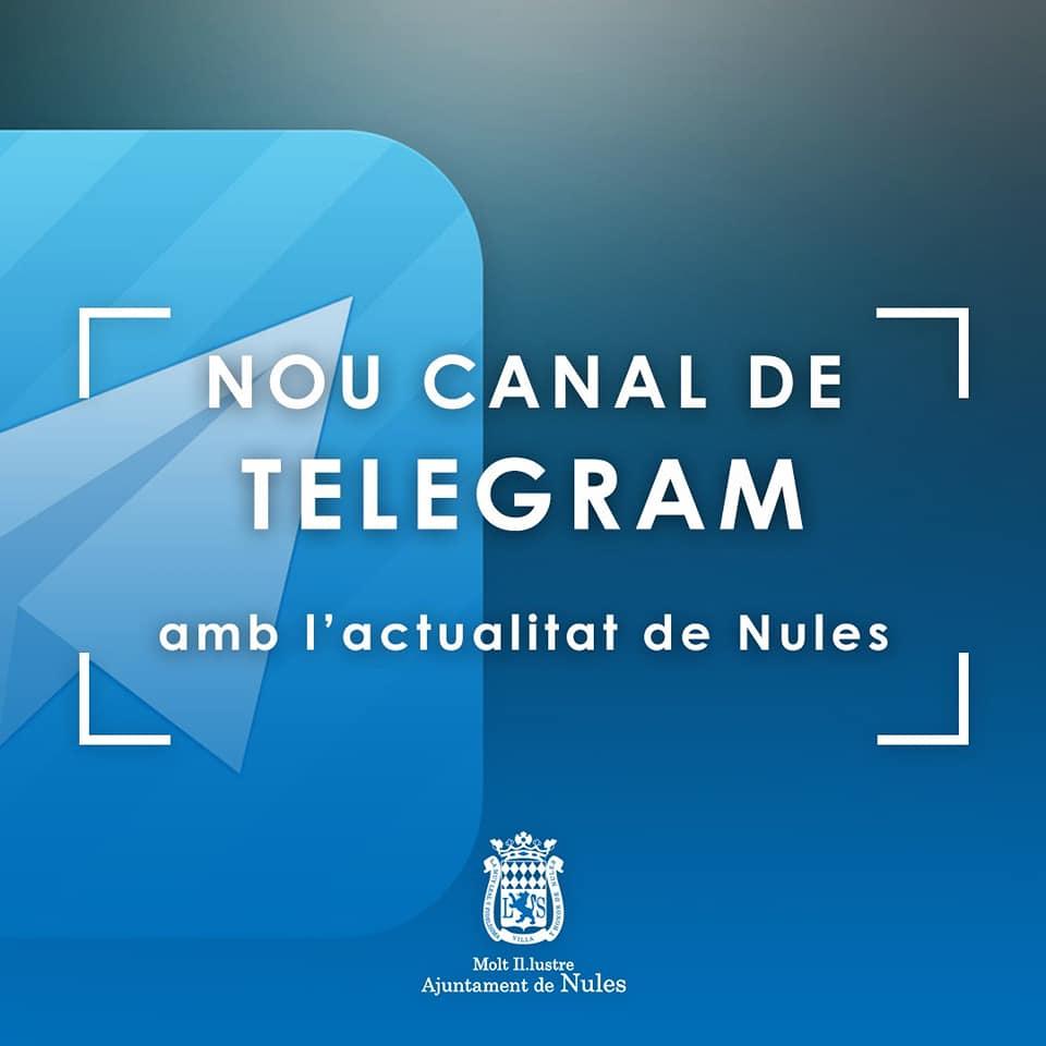 Nules acerca la actualidad municipal a la ciudadanía a través de Telegram