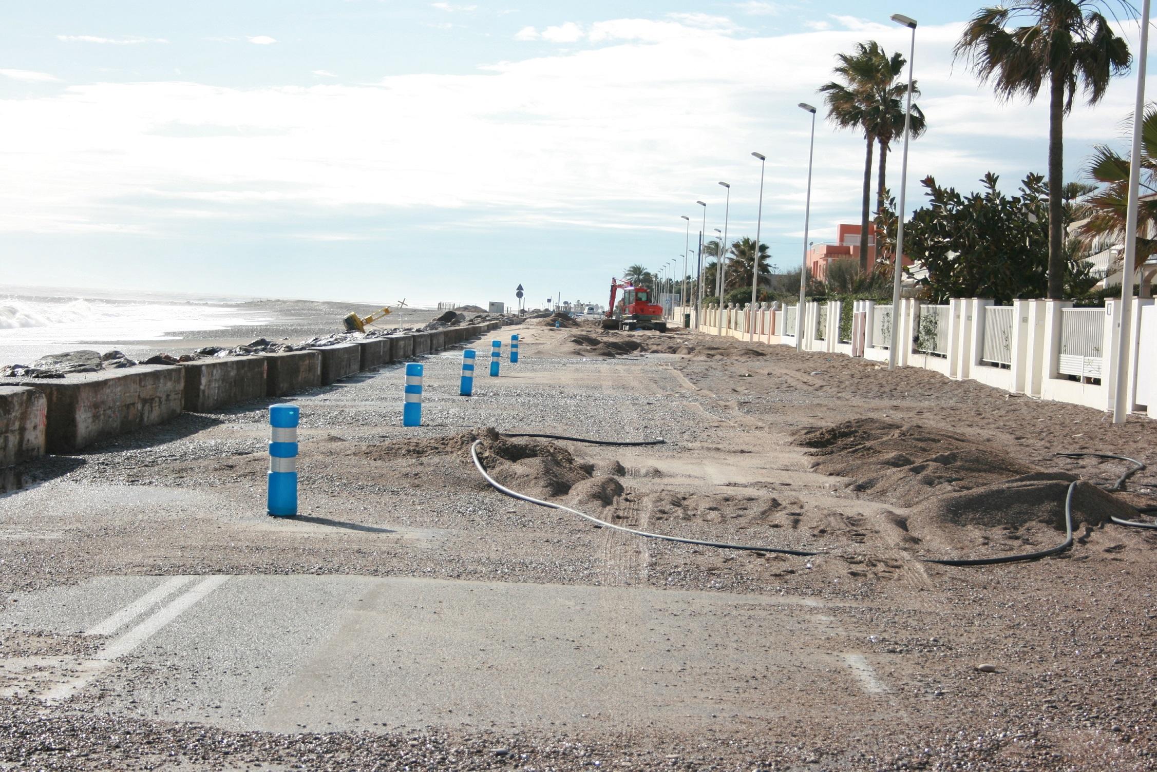 Almassora reclamará el jueves a Costas la defensa de la playa frente a temporales