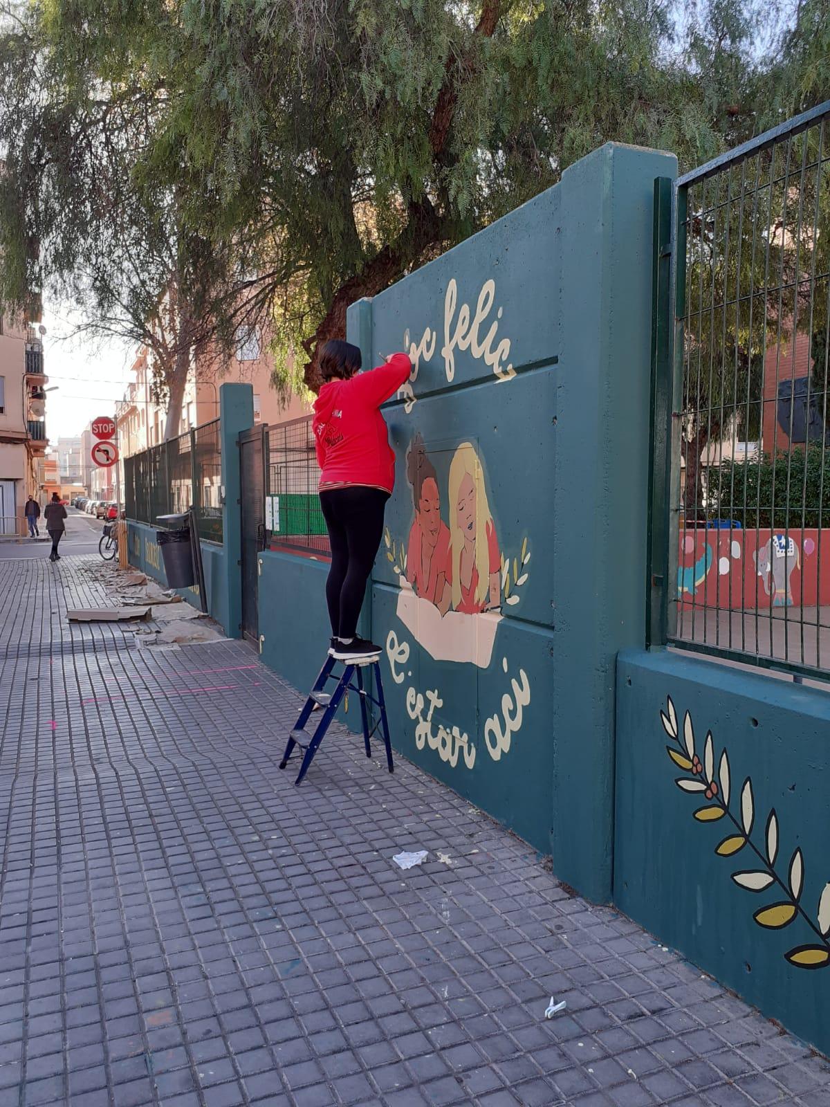 El Ayuntamiento de Burriana impulsa murales colaborativos para mejorar el entorno del barrio la Bosca