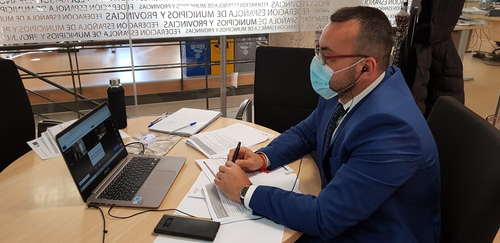 Benlloch pone el foco en la despoblación en la era poscovid en su estreno como presidente de la delegación española en el Congreso de Poderes Locales del Consejo de Europa