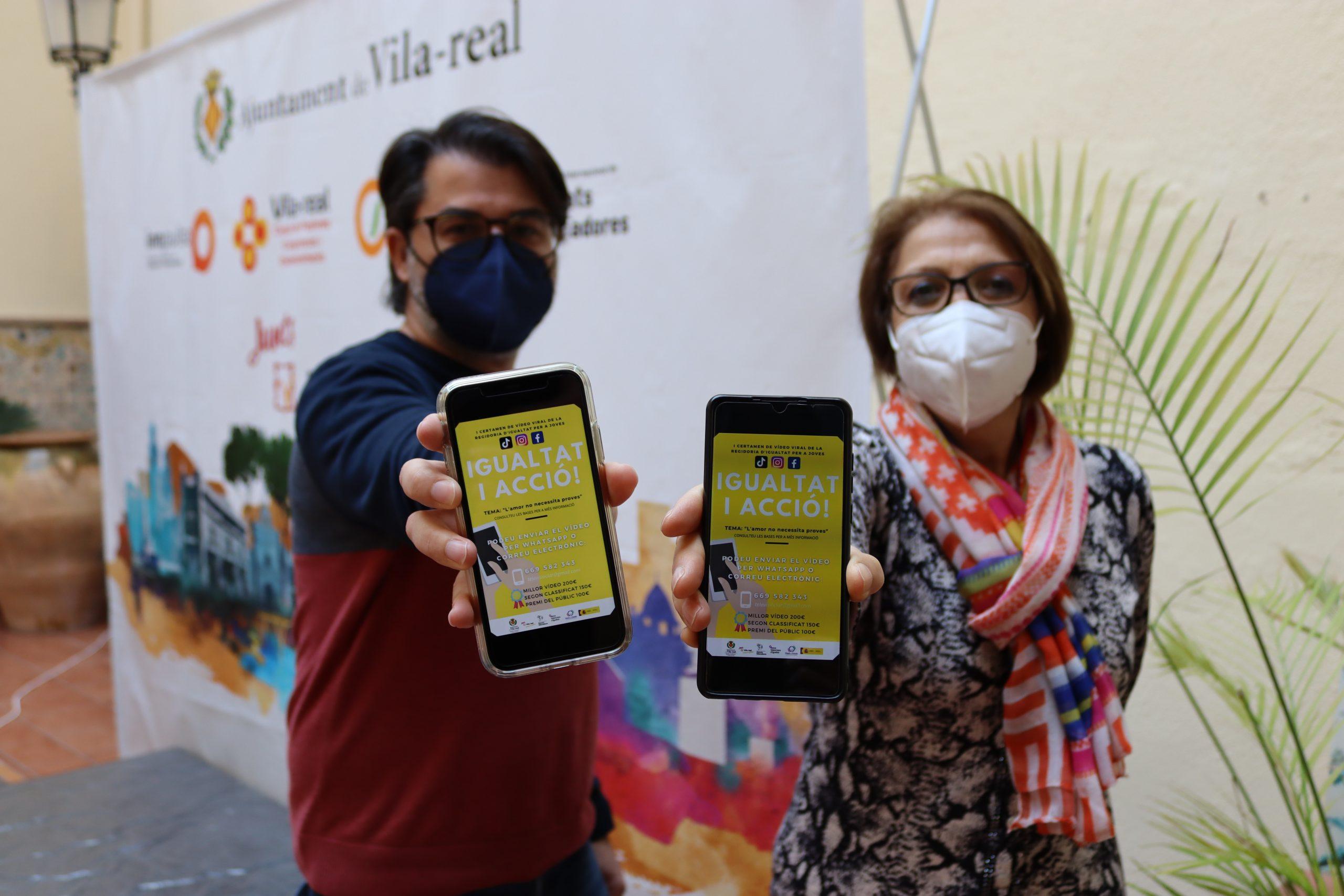 Vila-real conciencia a los jóvenes sobre las relaciones saludables con el primer certamen de vídeo viral en redes sociales Igualtat i acció!