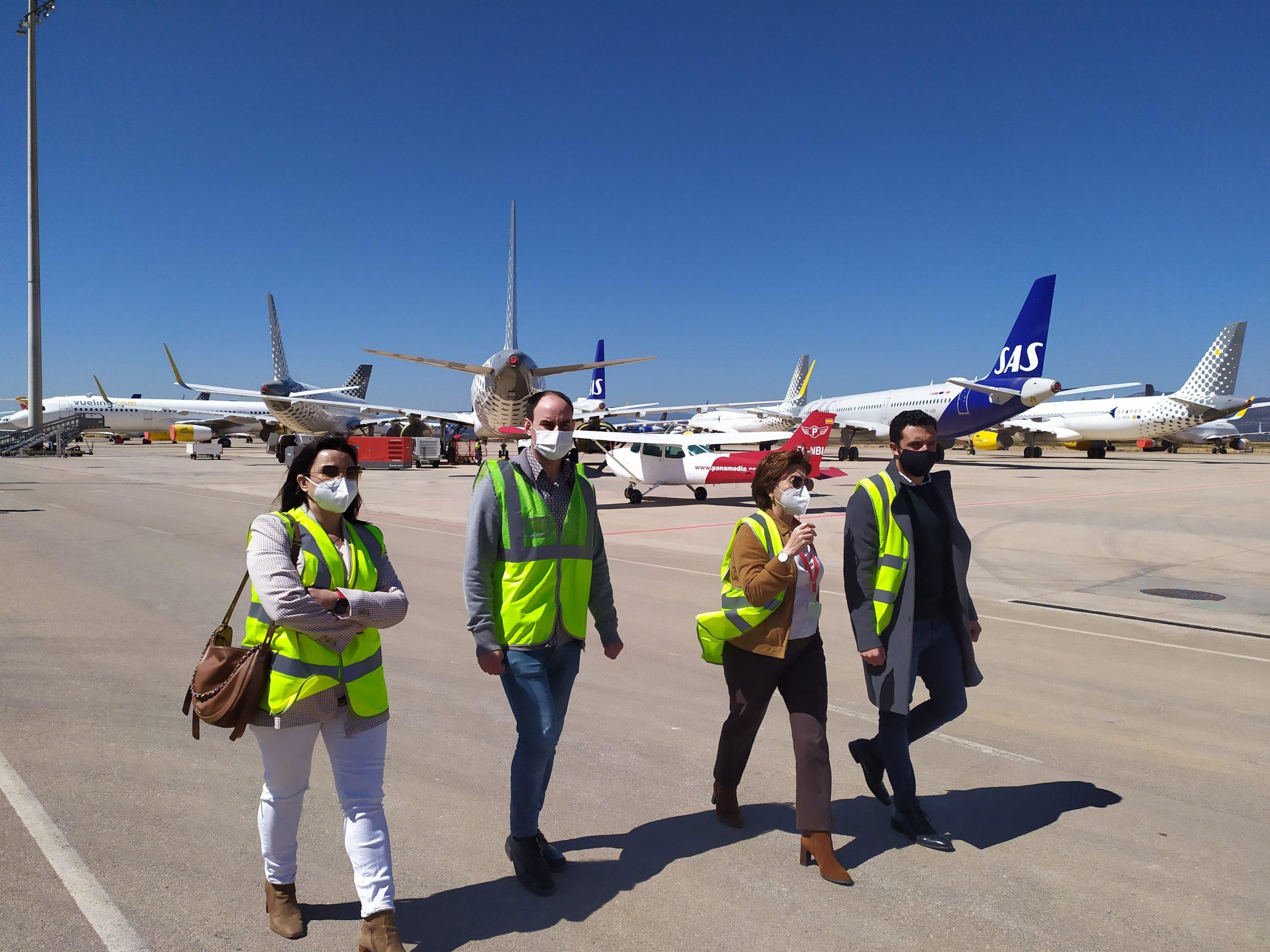 El aeropuerto de Castellón expone sus proyectos y cartera de servicios al Ayuntamiento de Sagunt y Asecam a fin de extender su ámbito de influencia