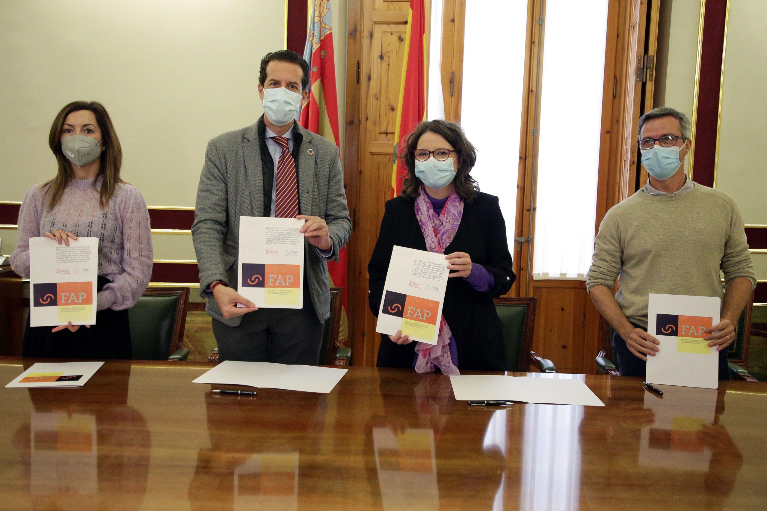 La FVMP y la Conselleria de Igualdad firman una colaboración para fomentar la formación en los servicios sociales de los ayuntamientos
