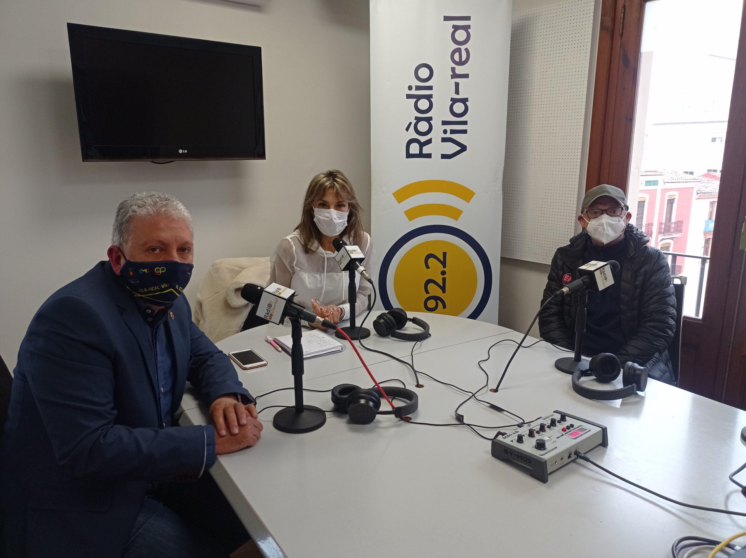 Entrevista al concejal de Deportes de Vila-real, Javier Serralvo, y presidente del Club Ciclista Vila-real, Pascual Falcó