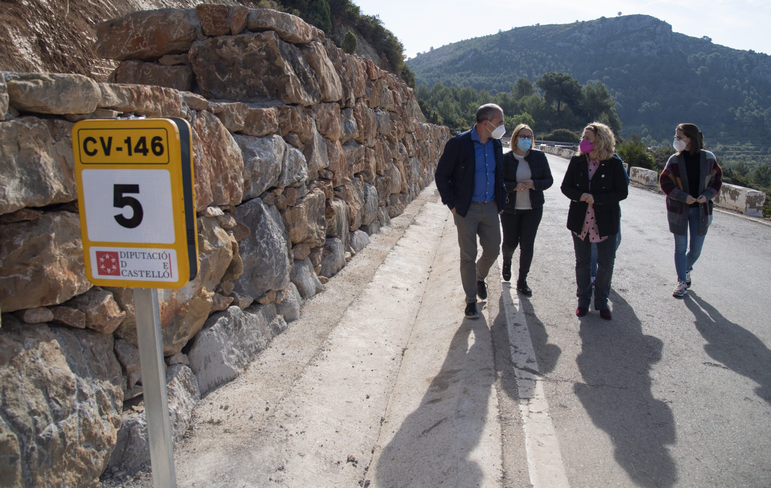 La Diputación de Castellón invierte 410.000 euros en la mejora de la seguridad vial de la carretera que une Cabanes con la Ribera de Cabanes