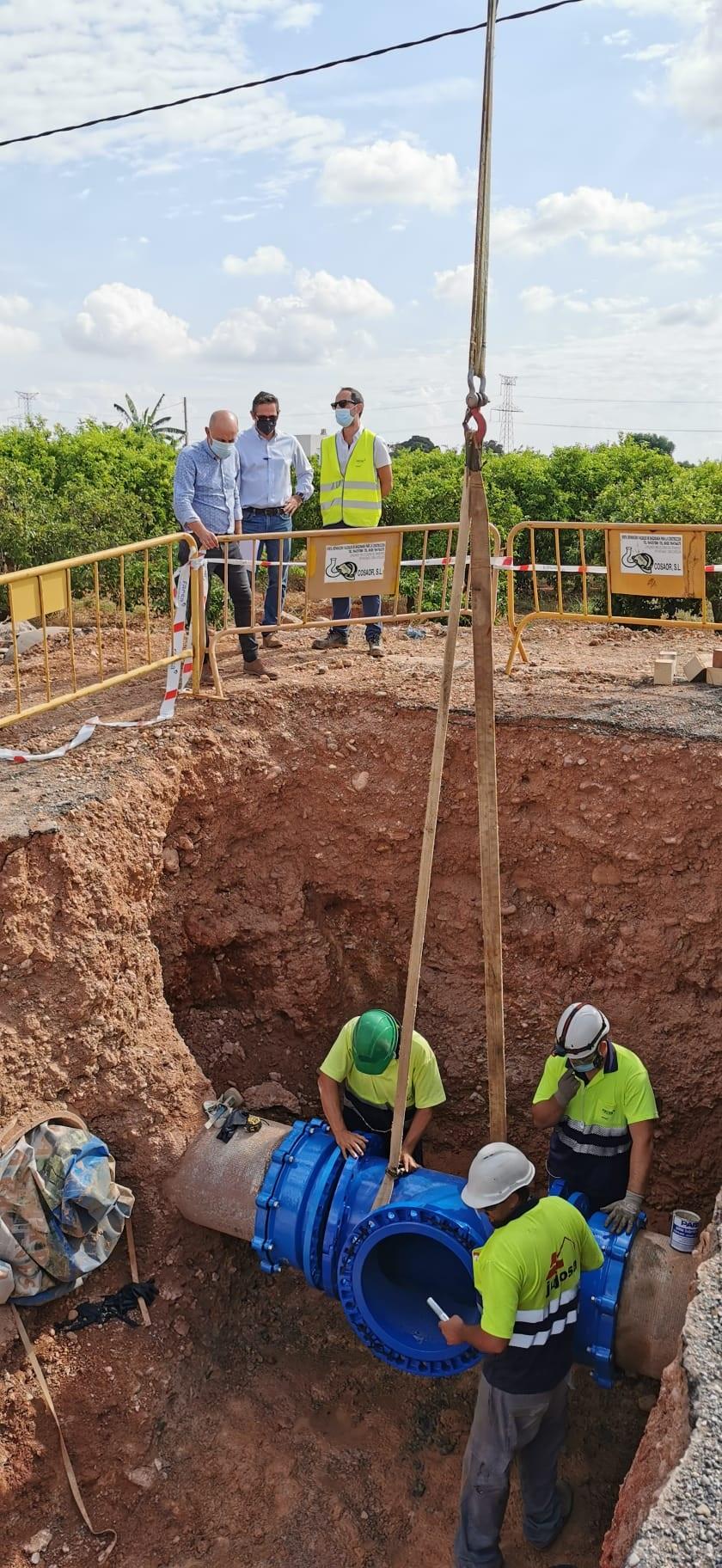 Vila-real recibe las obras de abastecimiento para garantizar las necesidades hídricas del polígono de la carretera de Onda