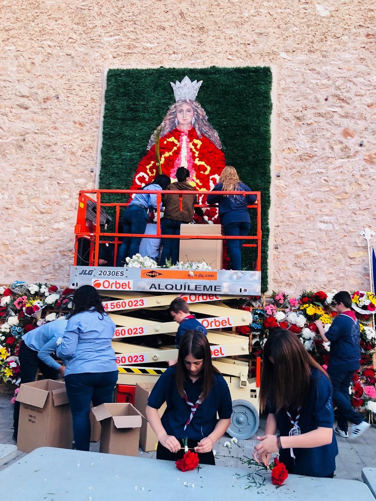 Almassora habilitará un espacio para depositar flores a Santa Quitèria