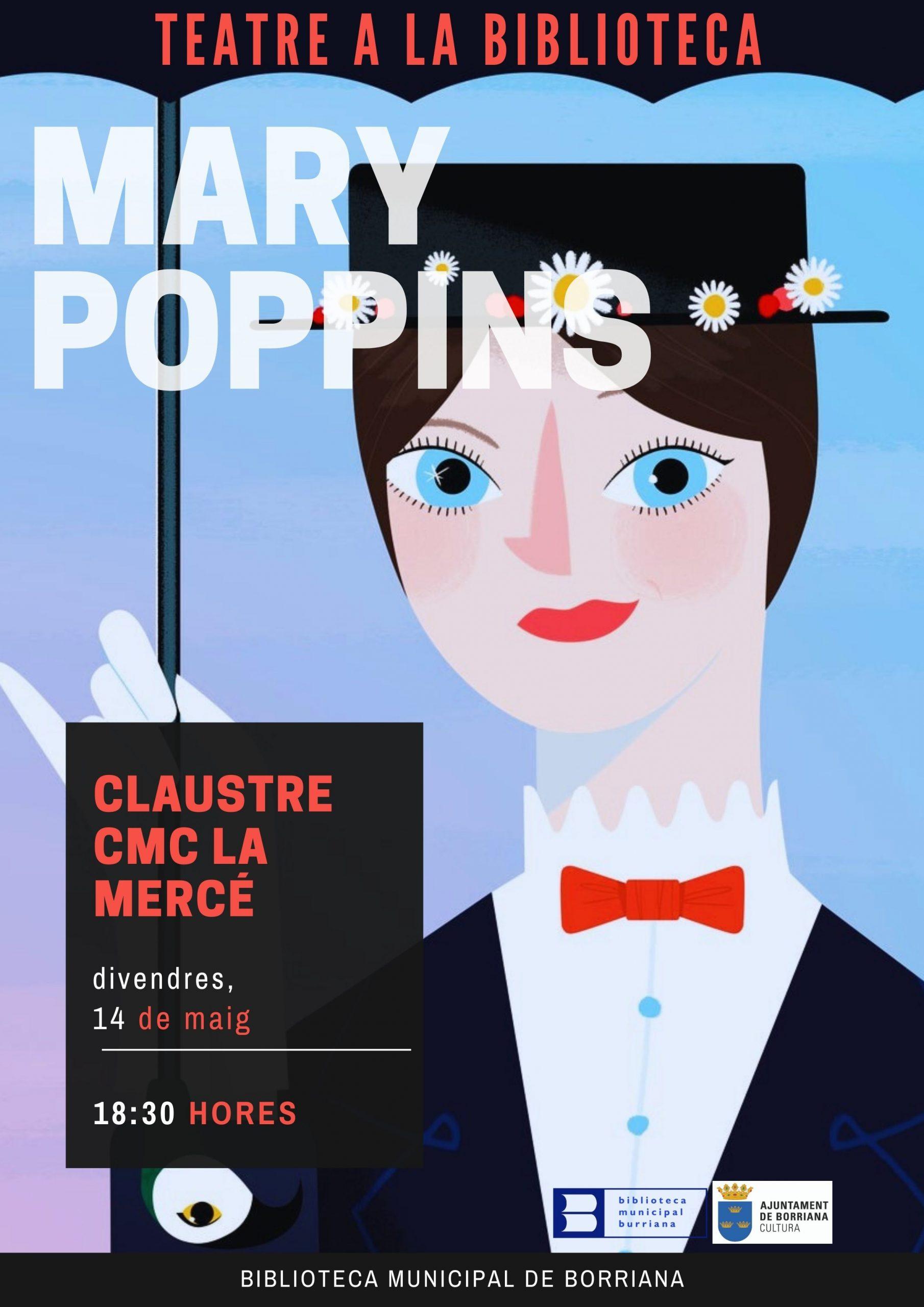 Mary Poppins llega a la Biblioteca de Burriana con un espectáculo de marionetas