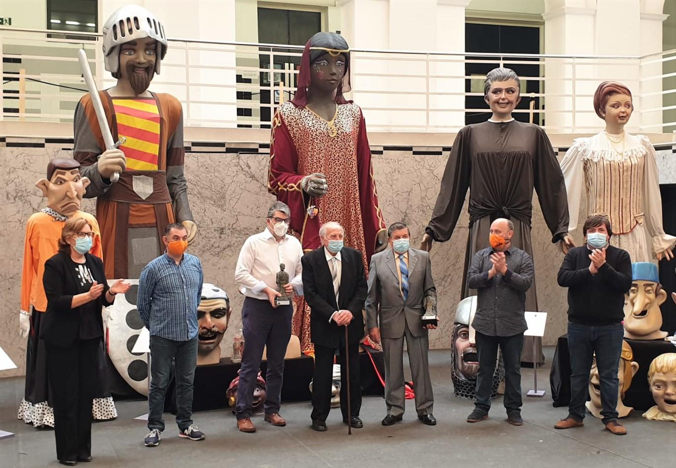 Burriana nombra Geganters d'Honor 2021 a Vicente Diago y a Pascual Chiva por su contribución al impulso de los 'Aplecs de Gegants i Cabuts'