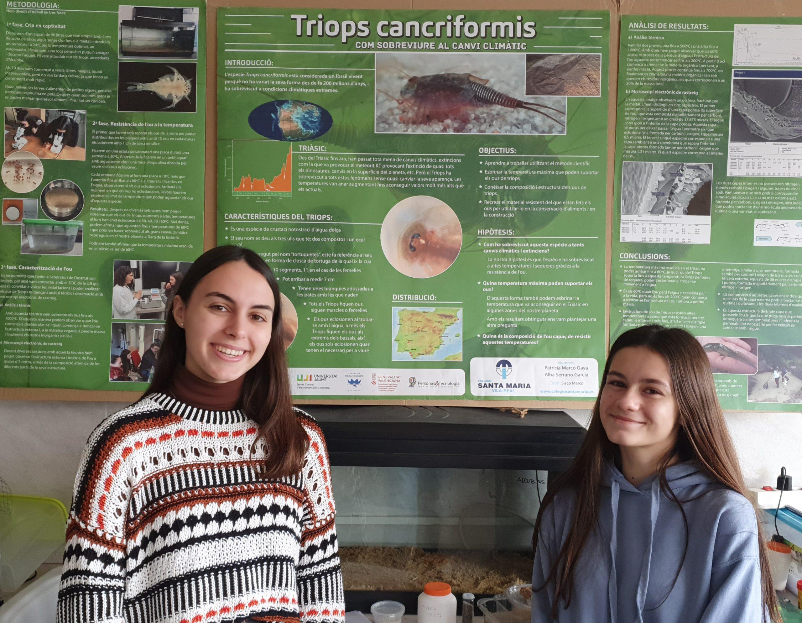 Alumnas del colegio Santa María de Vila-real, premiadas en un certamen científico en Nueva York