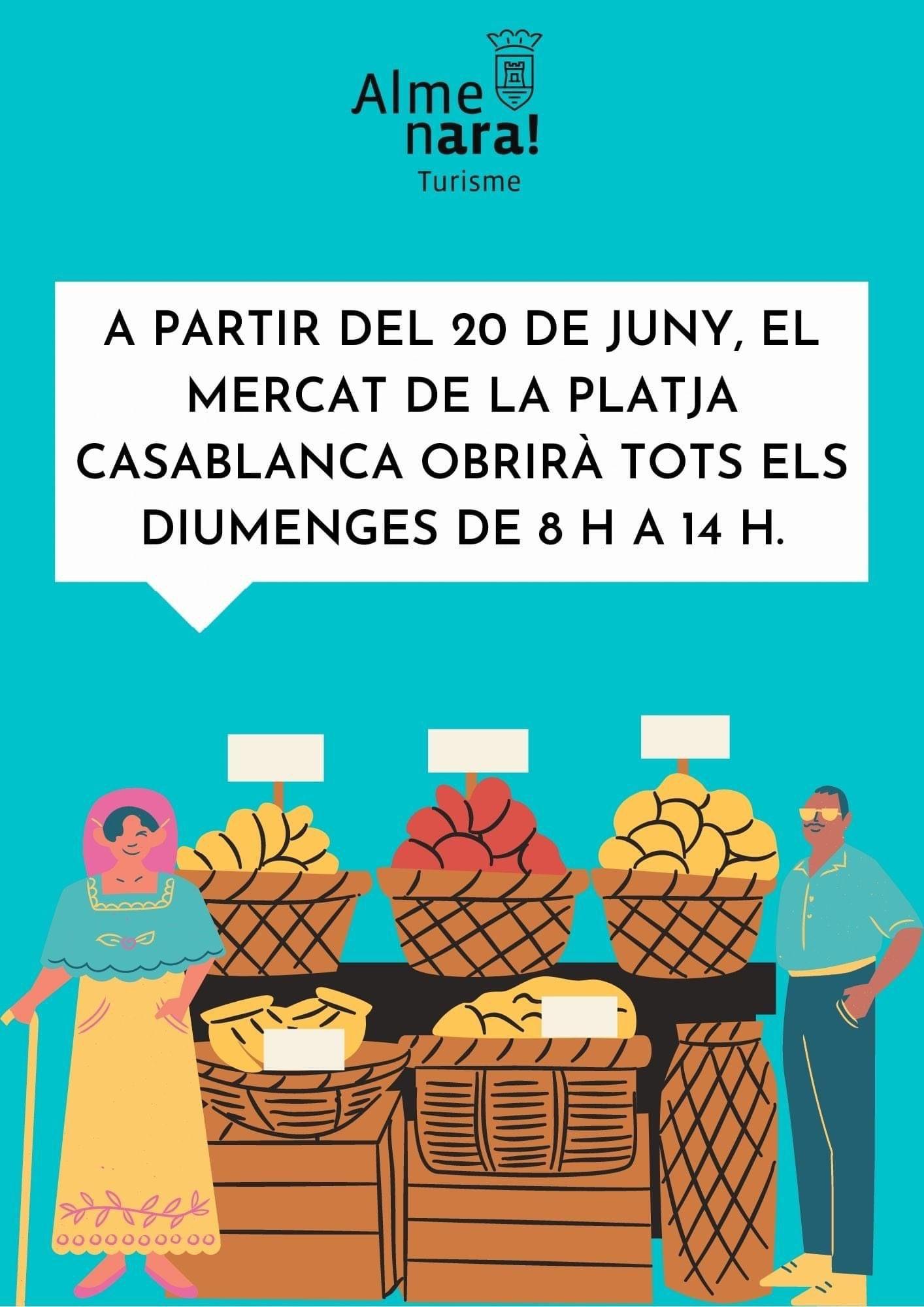 Almenara recupera a partir del domingo el mercado de la Playa Casablanca