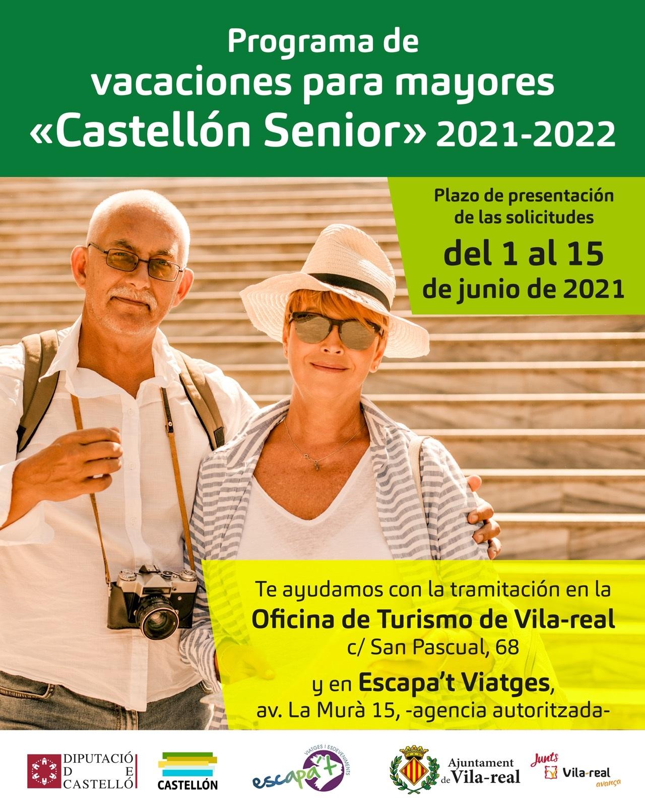 Vila-real facilitará a los pensionistas la solicitud de plazas para el programa de vacaciones Castellón Sénior