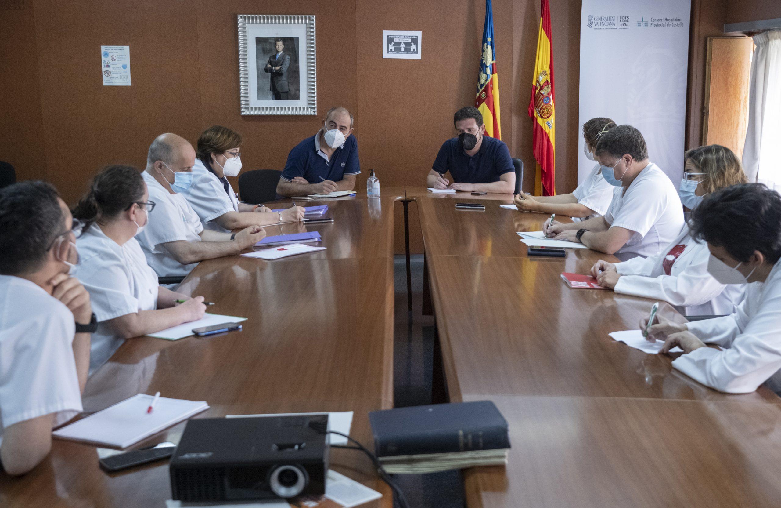 El equipo de gobierno de la Diputación de Castellón se reúne con los sindicatos para trabajar de forma conjunta en beneficio del Hospital Provincial de Castellón