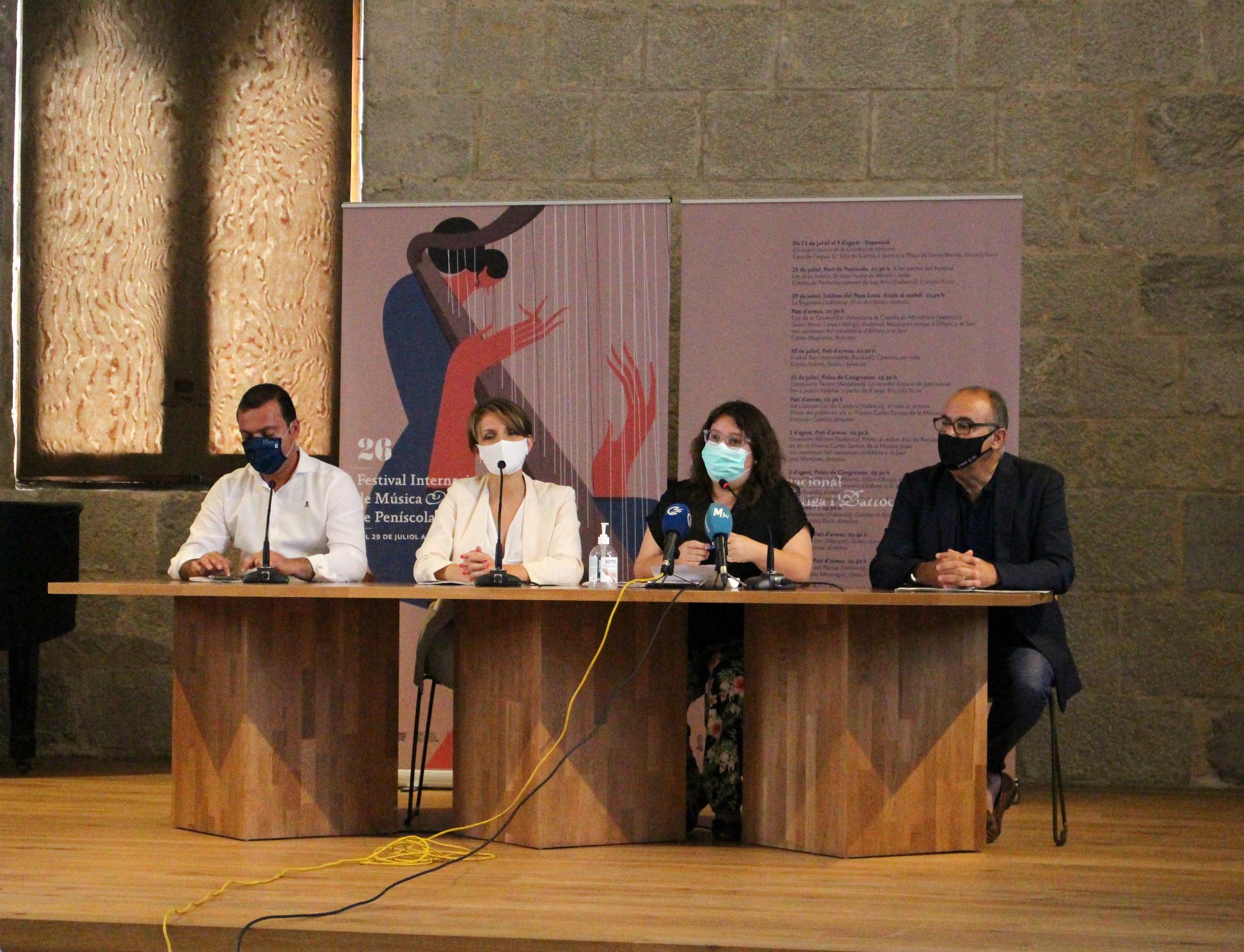 La Diputación impulsa la proyección internacional del Festival de Música Antigua y Barroca de Peñíscola con 70.000 euros