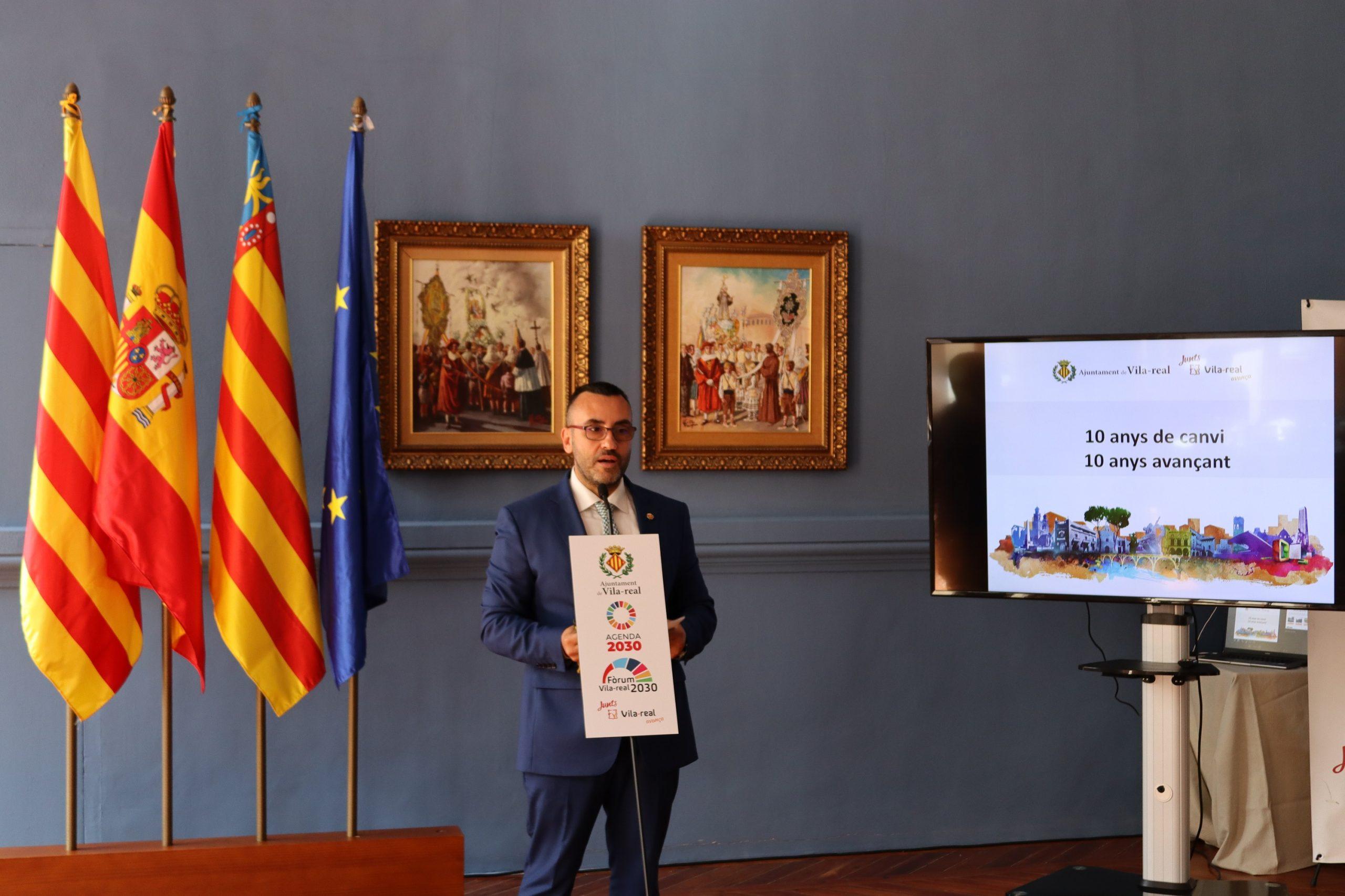 Declaraciones del acalde de Vila-real, José Benlloch, sobre la Junta Local de Seguridad de las Fiestas de la Virgen de Gracia