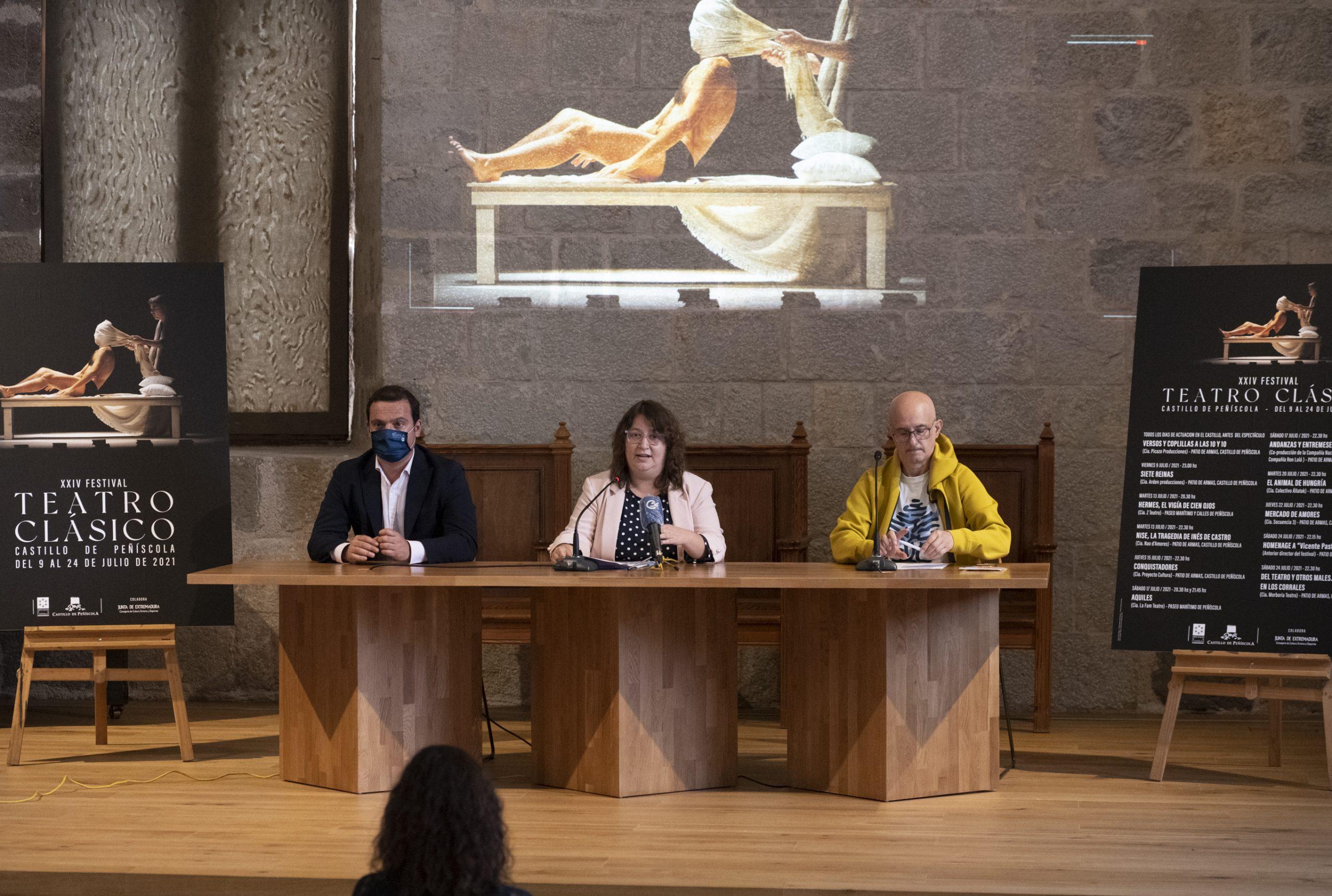La Diputación de Castellón presenta la XXIV edición del Festival de Teatro Clásico del Castillo de Peñíscola que este año se inspira en la comedia