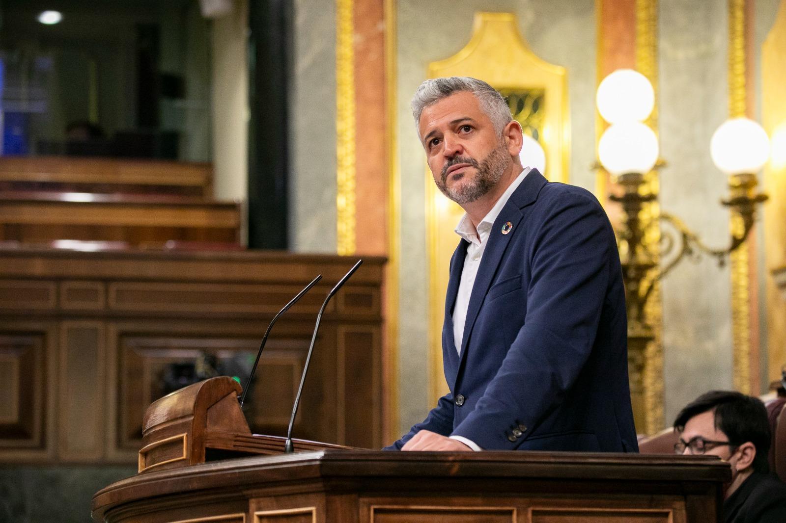 Renau (PSPV-PSOE) reitera en el Congreso que la bajada del IVA de la luz beneficiará a gran parte de los consumidores particulares, pymes y autónomos