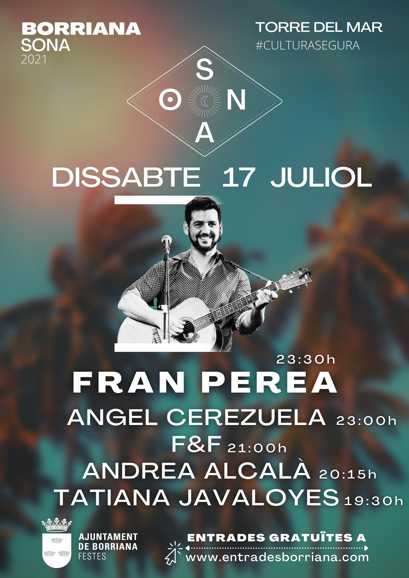 Burriana encara el tercer fin de semana de julio con la última jornada de conciertos del 'Borriana Sona', monólogos y espectáculos de magia