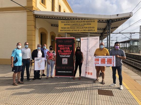 Mulet pide la recuperación permanente de las frecuencias ferroviarias perdidas entre Castellón y el Maestrat