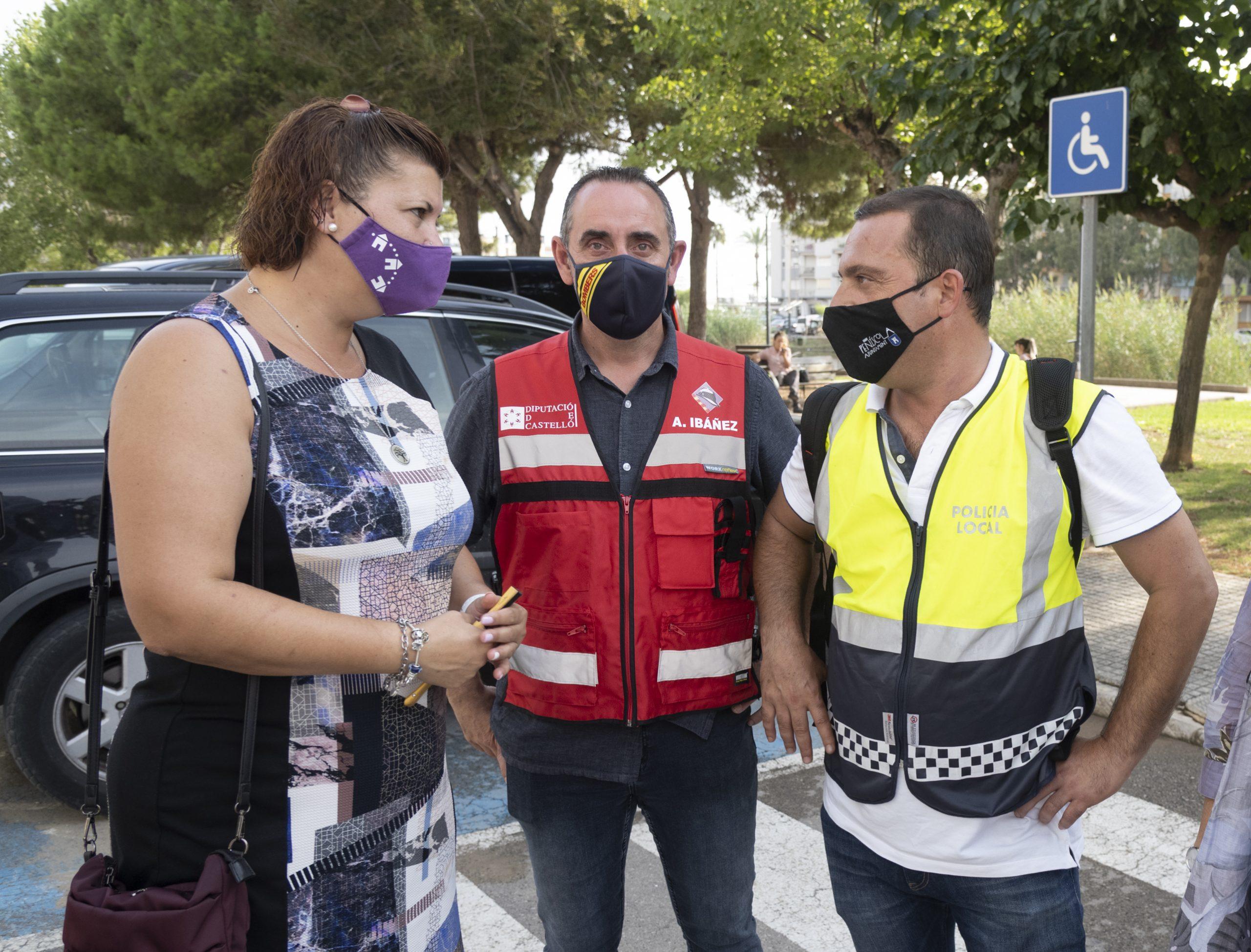 La Diputación de Castellón traslada al Ayuntamiento de Peñíscola y a la Generalitat su disposición para ayudar en el realojo de las familias afectadas por el derrumbe de un edificio de apartamentos